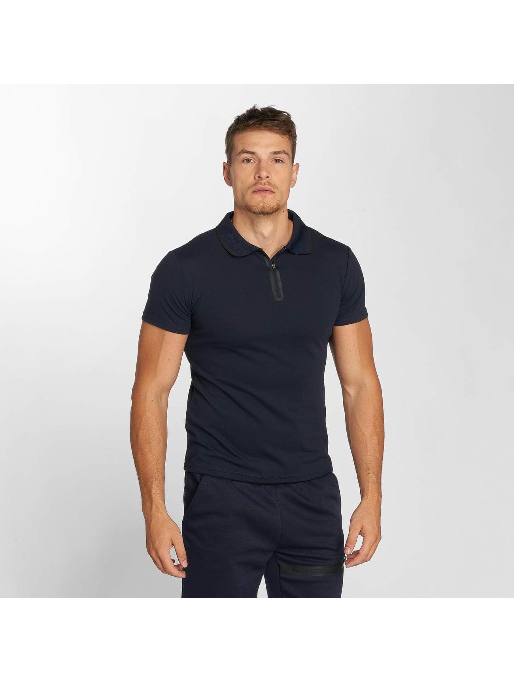 Aarhon Anzug Polo blau