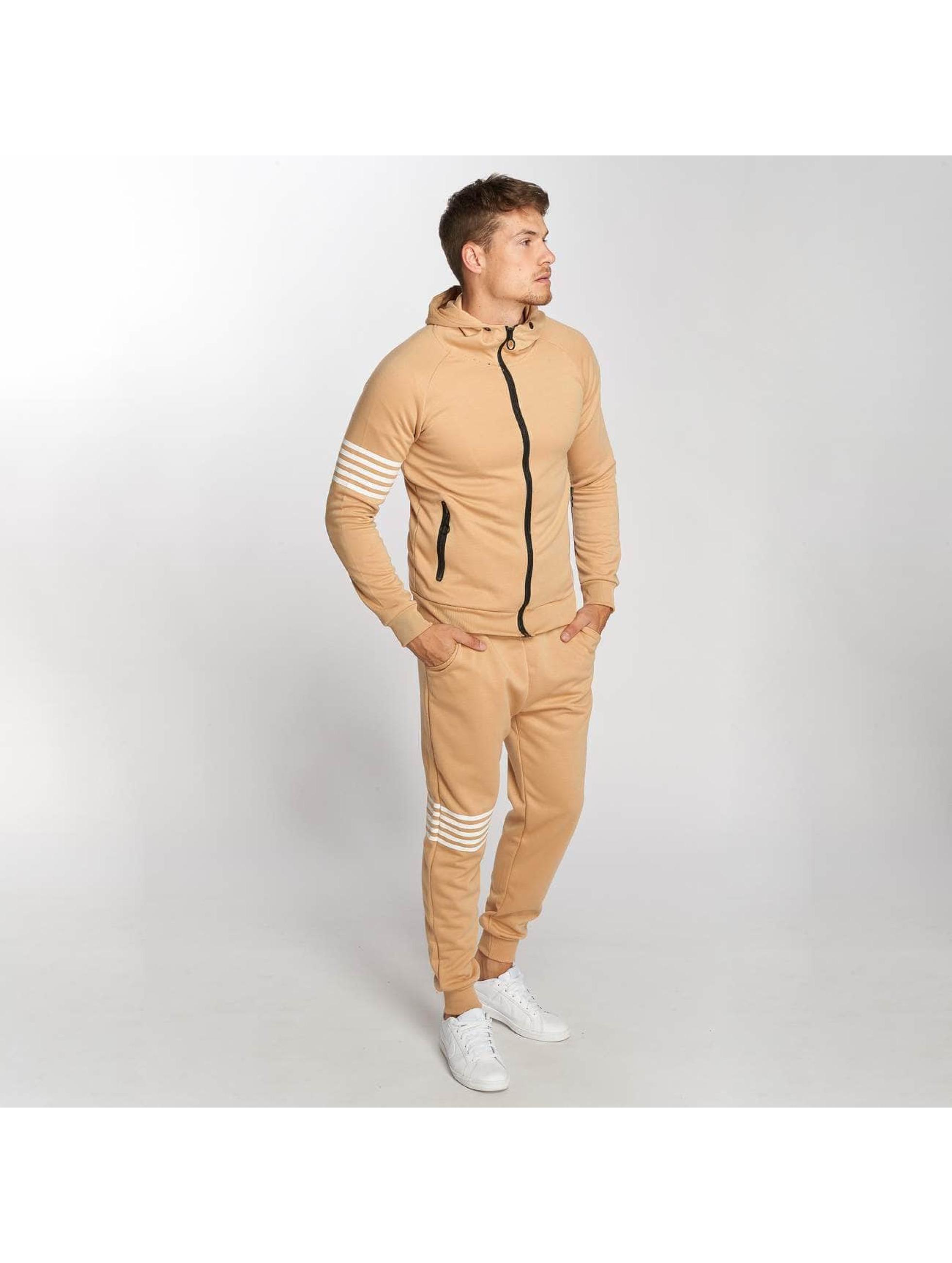 Aarhon Anzug Stripes braun