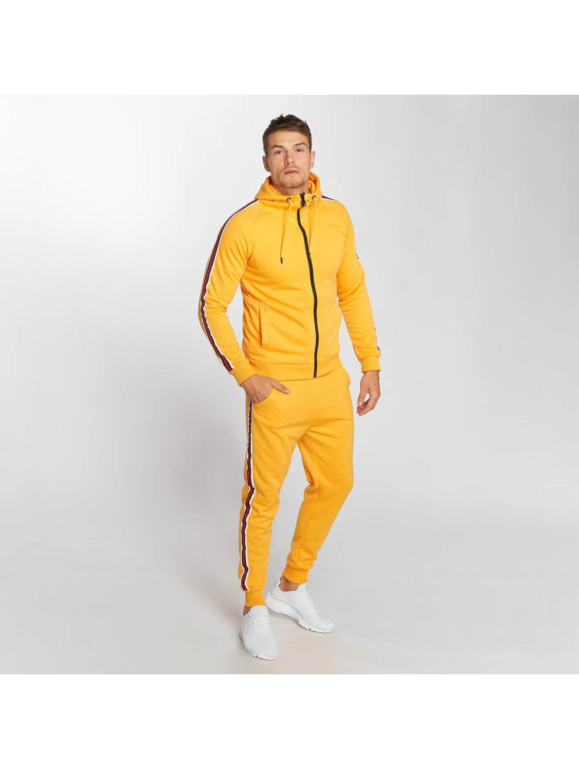 Aarhon Anzug Coloured Stripes orange