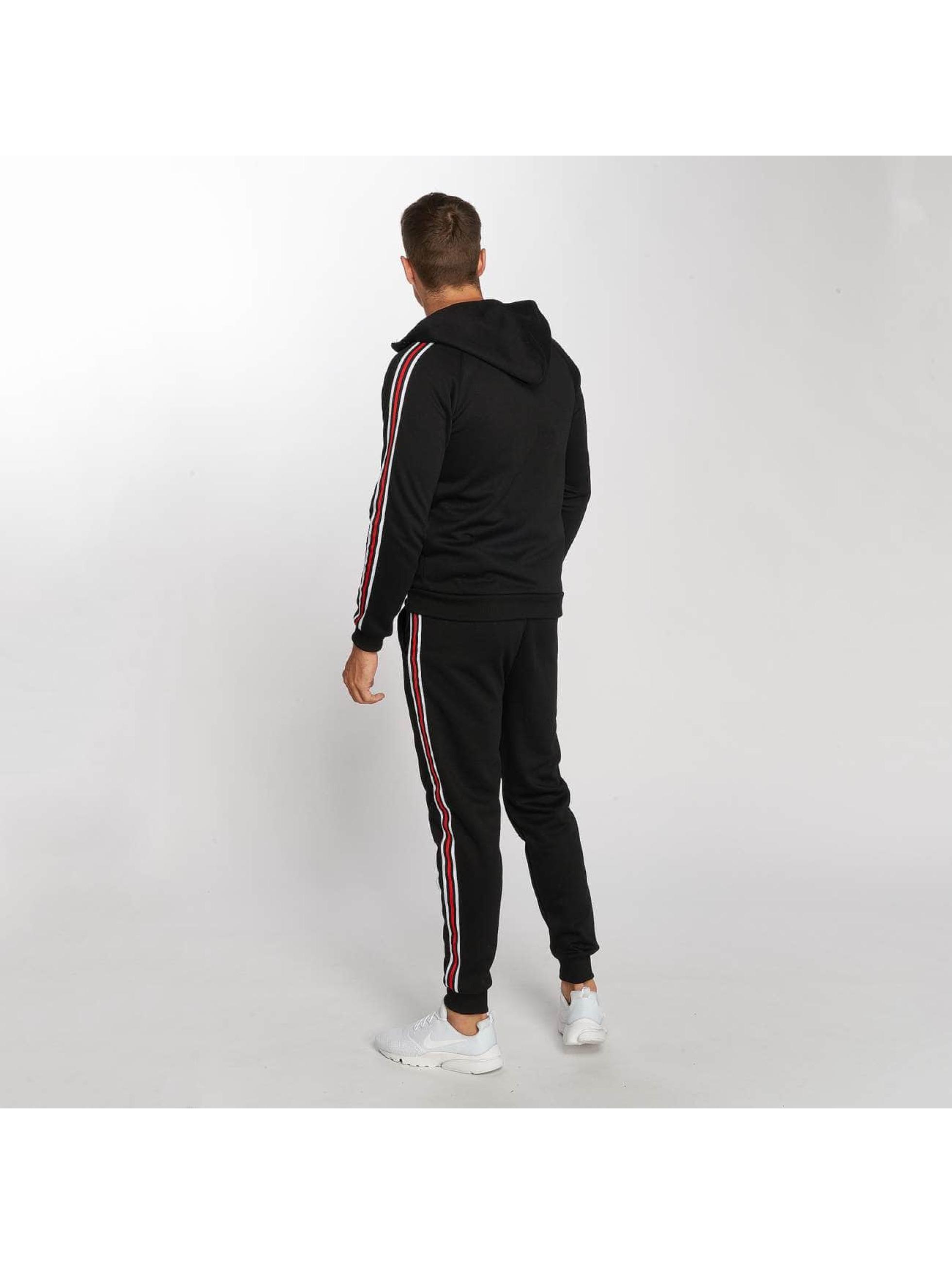 Aarhon Anzug Coloured Stripes schwarz