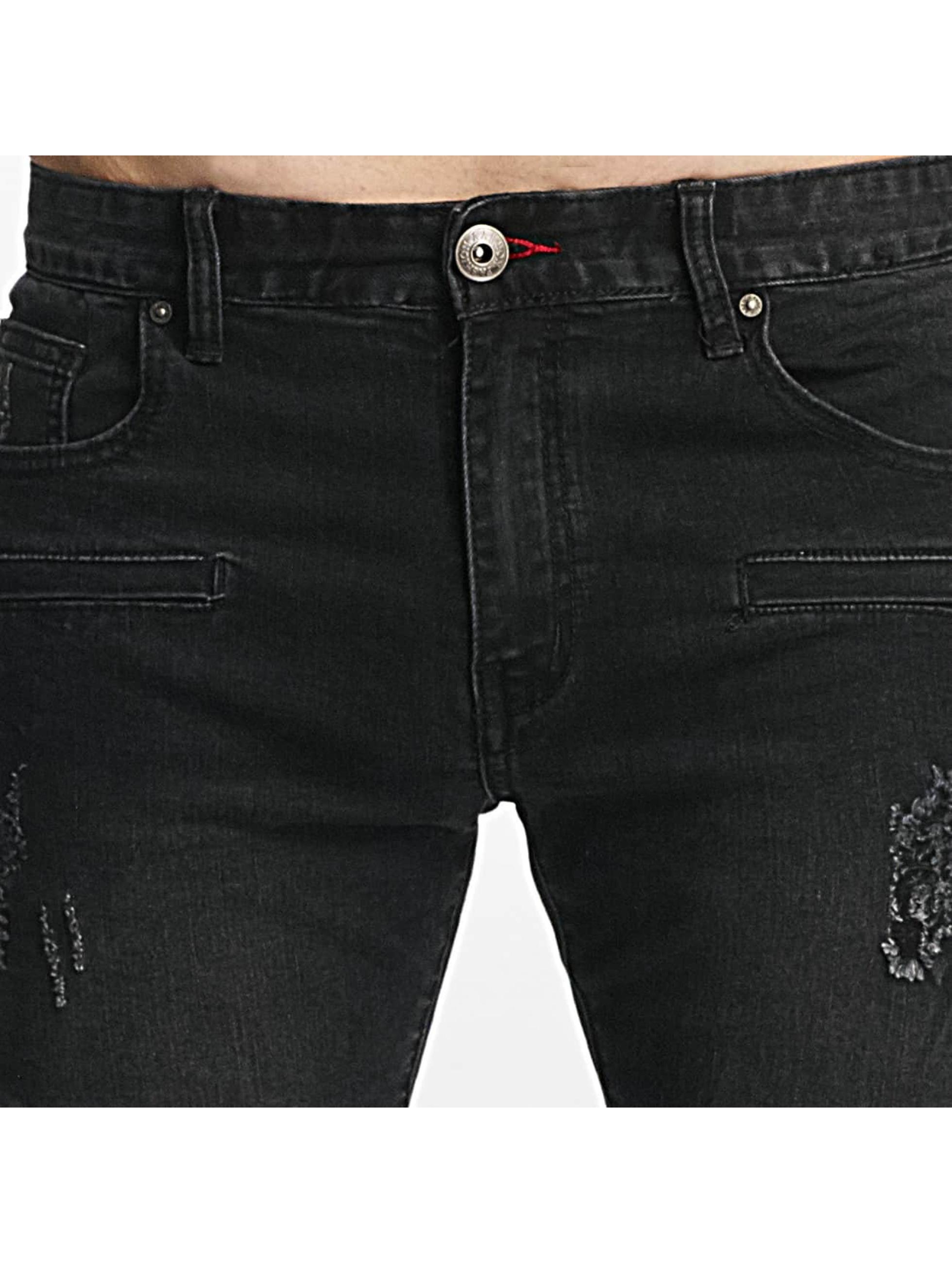 Aarhon dżinsy przylegające Pirmin czarny