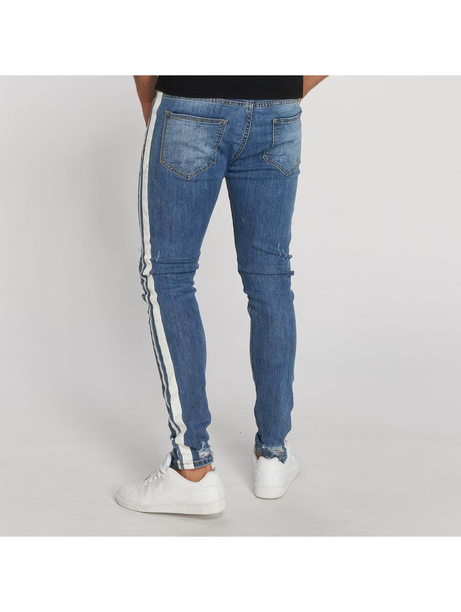 Aarhon Dżinsy straight fit Stripe niebieski