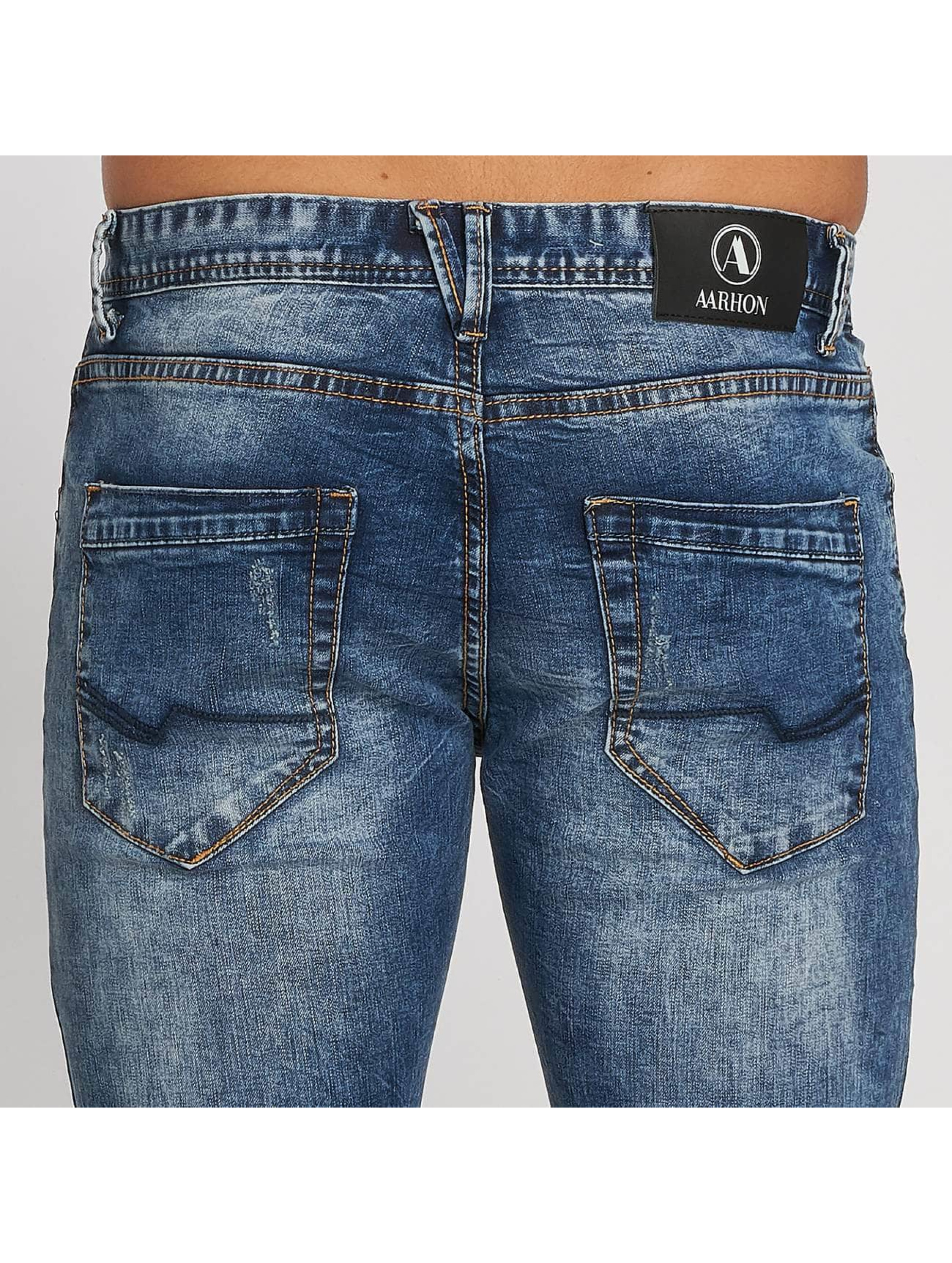 Aarhon Jeans straight fit Dark Washed blu