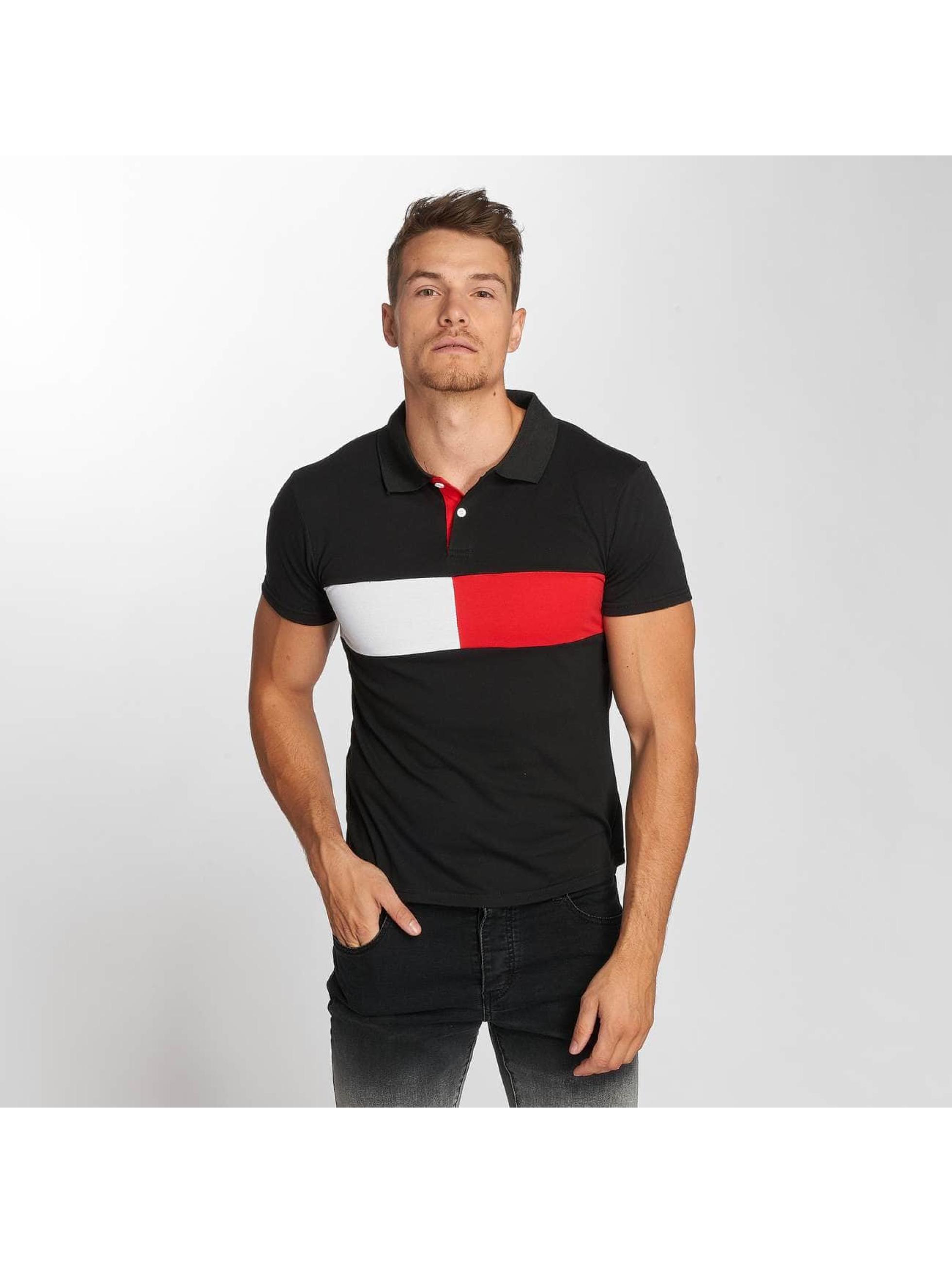 Aarhon Koszulki Polo Block Stripes czarny