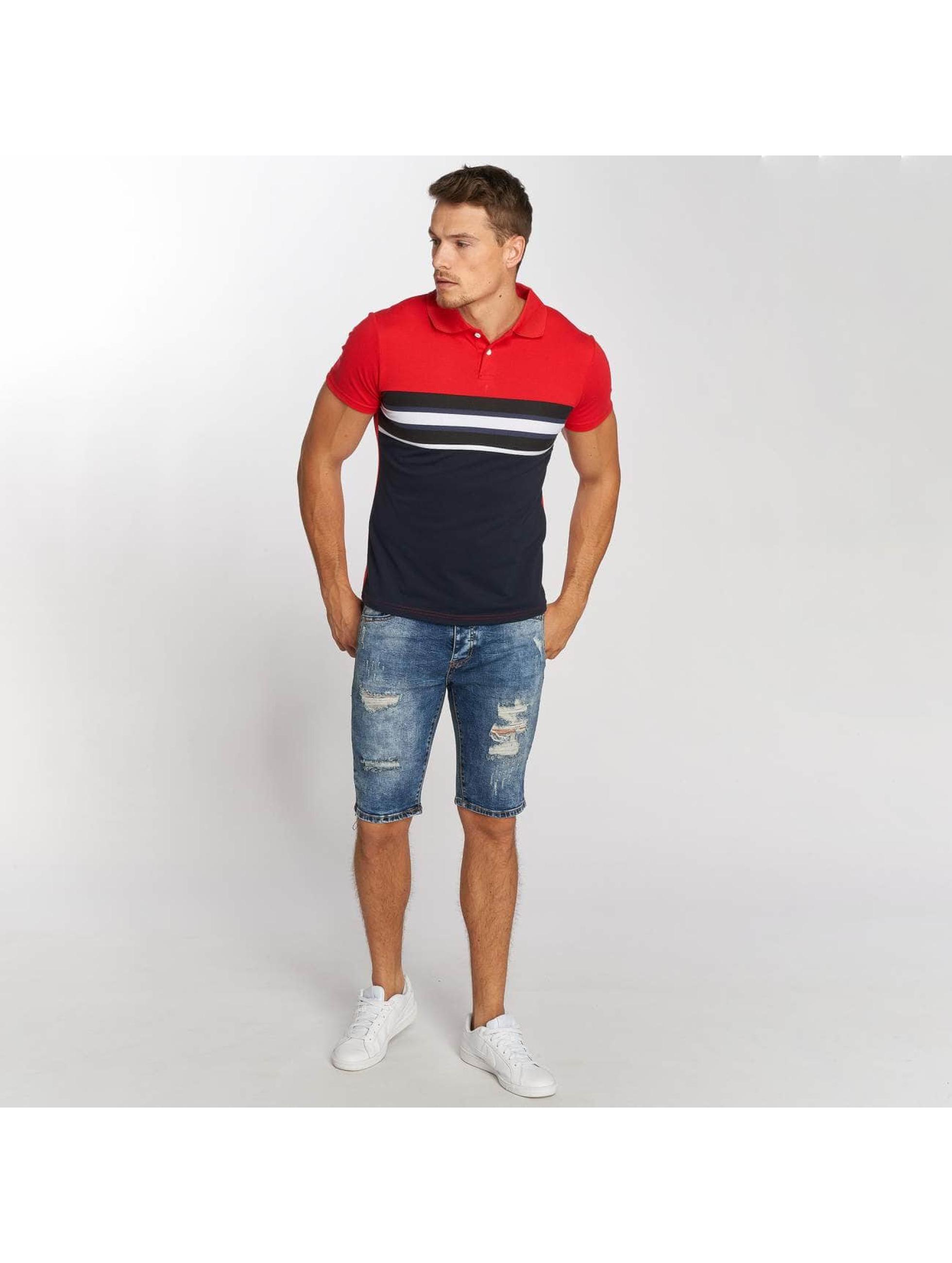 Aarhon Koszulki Polo Stripe czerwony