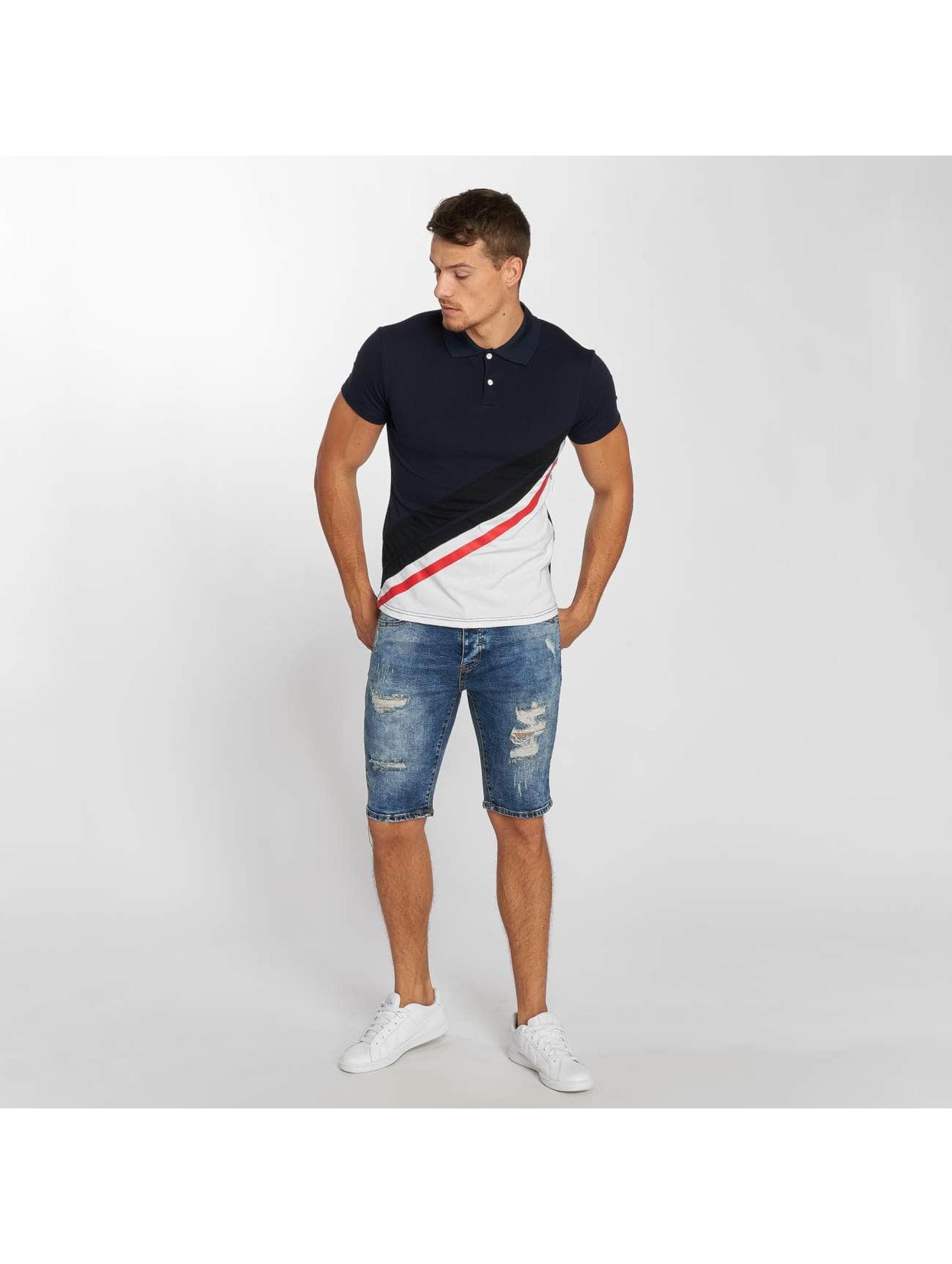 Aarhon Koszulki Polo Diagonal niebieski