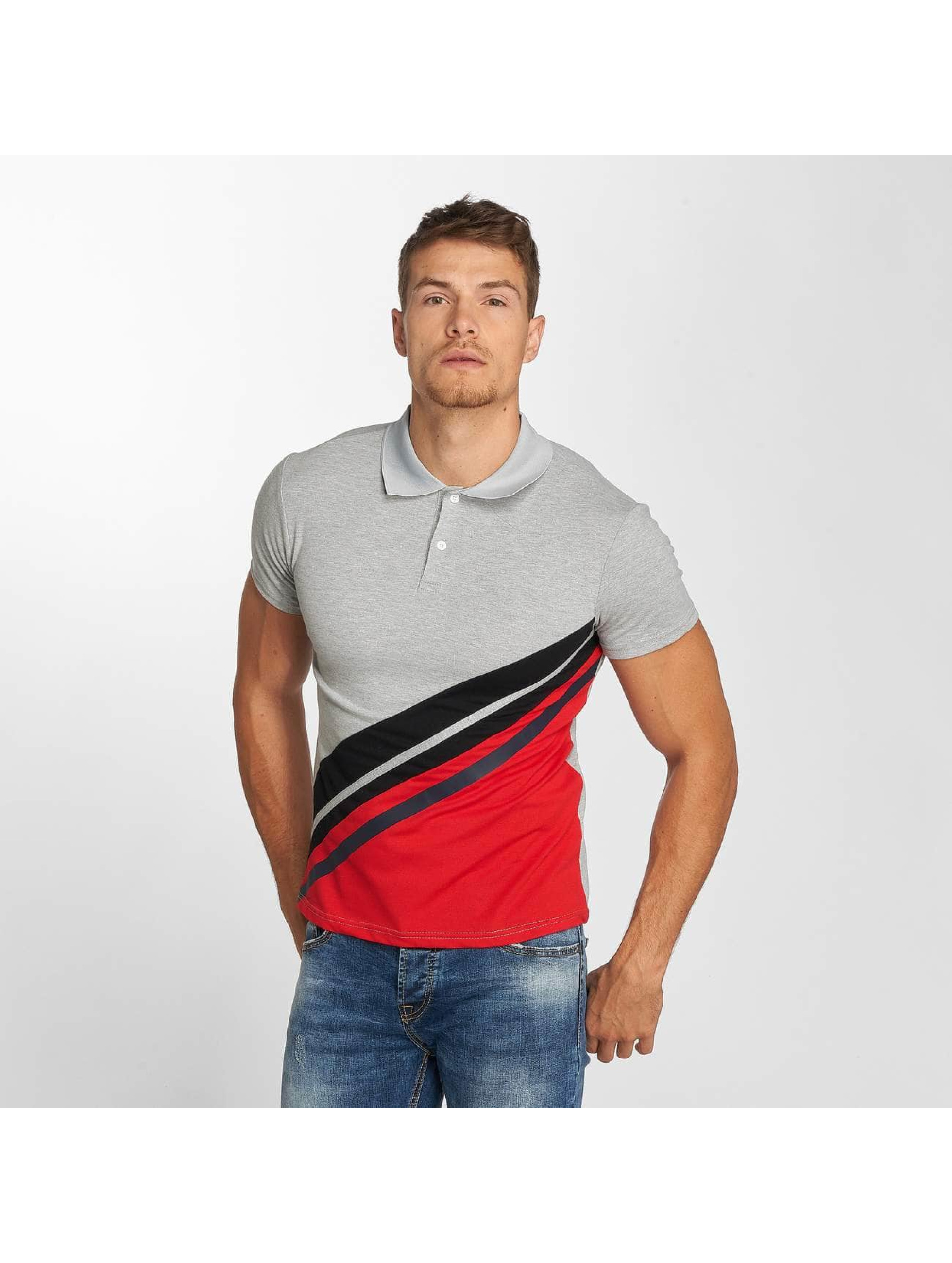 Aarhon Koszulki Polo Stripes szary