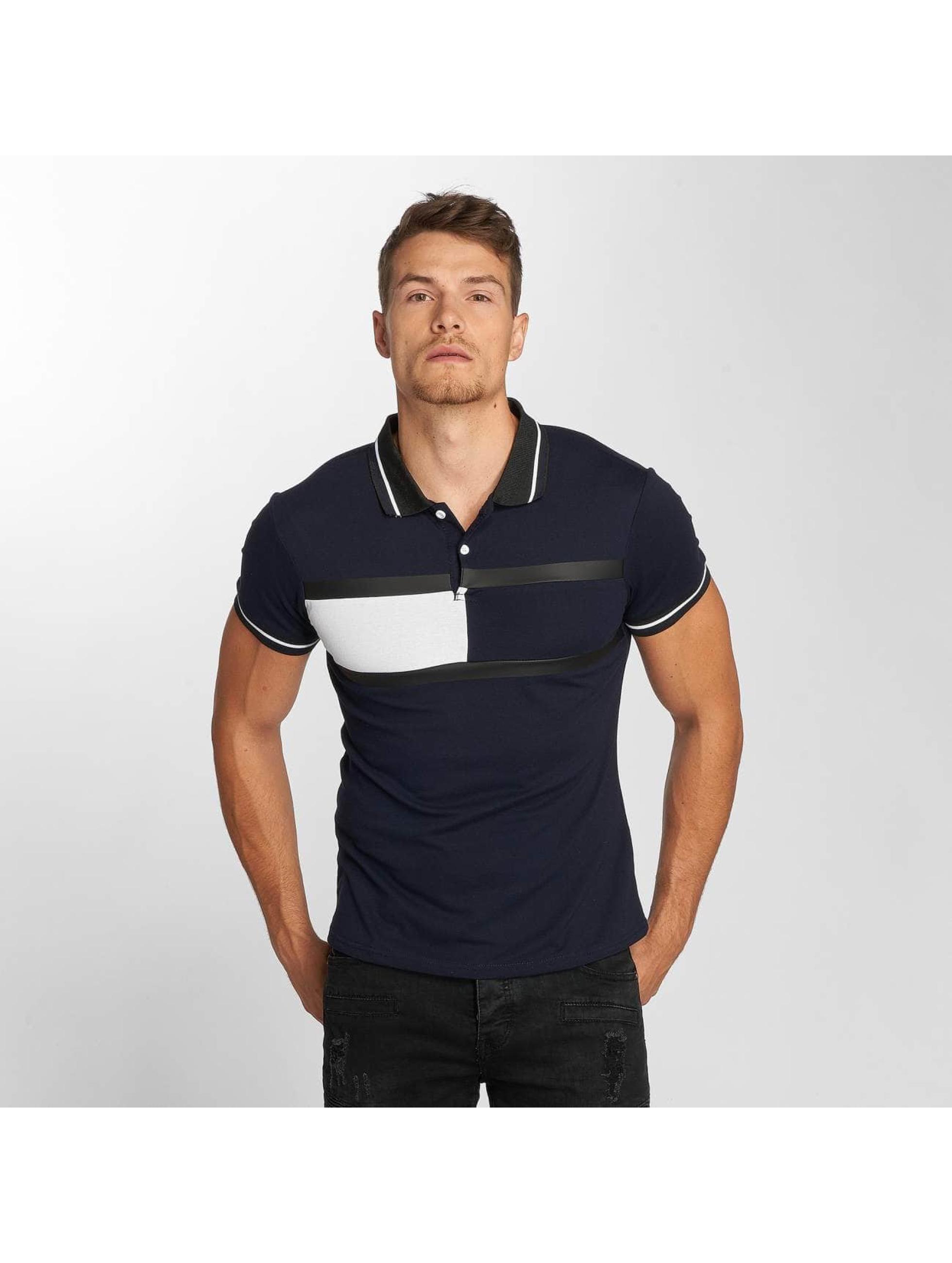 Aarhon Polo Block Stripes bleu