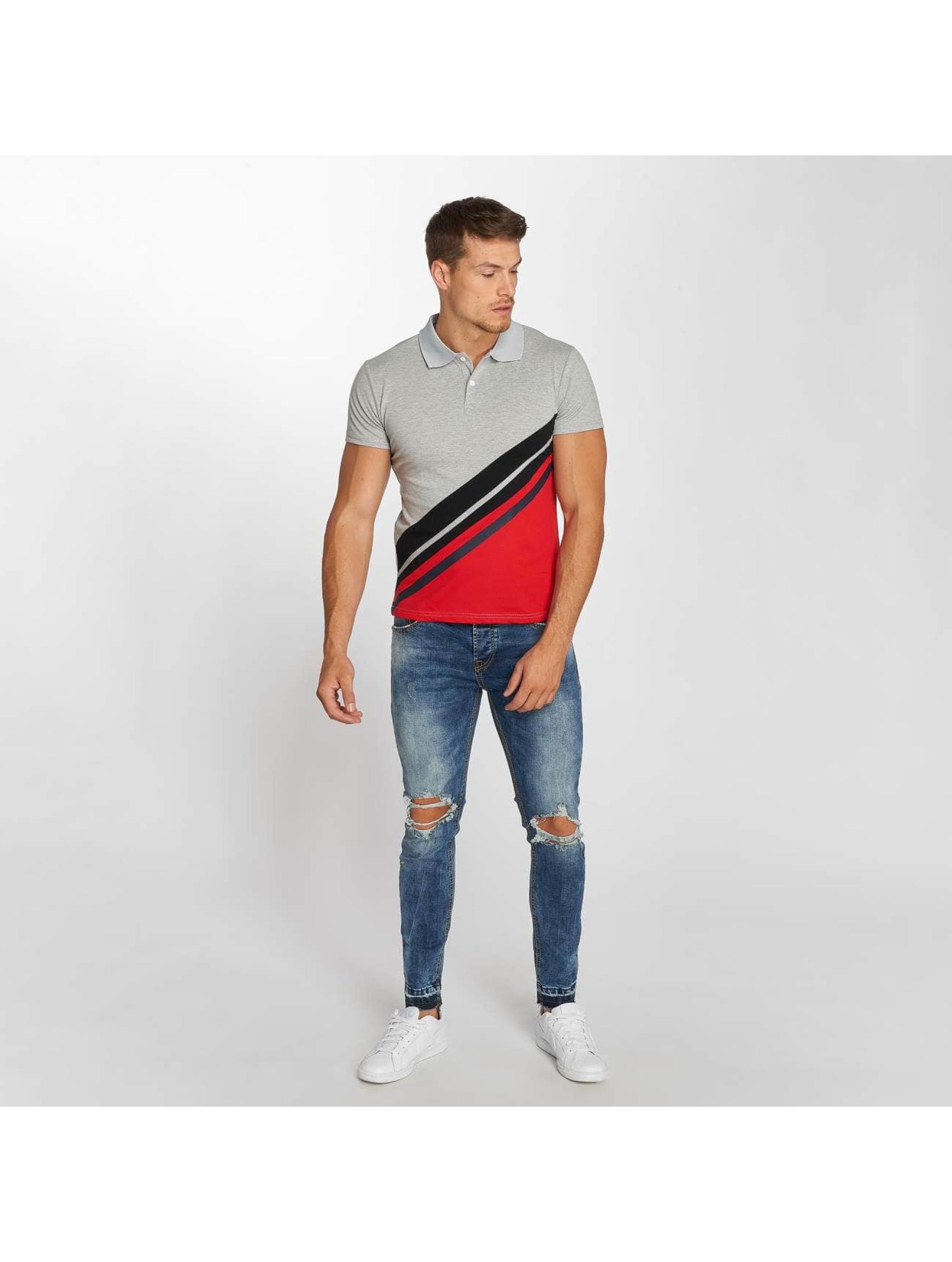 Aarhon Polo Stripes gris