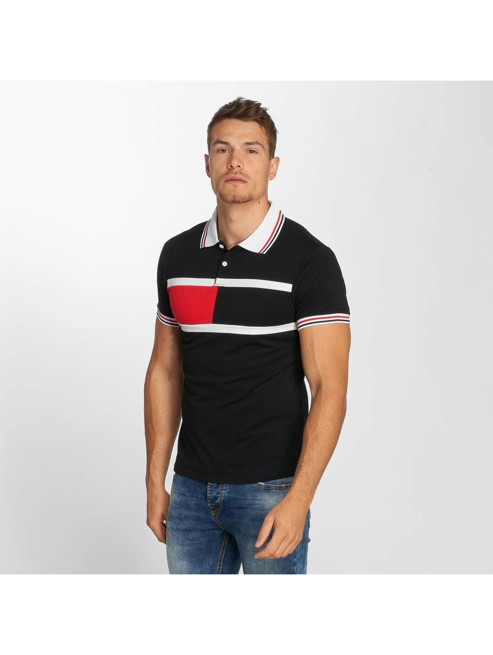 Aarhon Polo Block Stripes noir