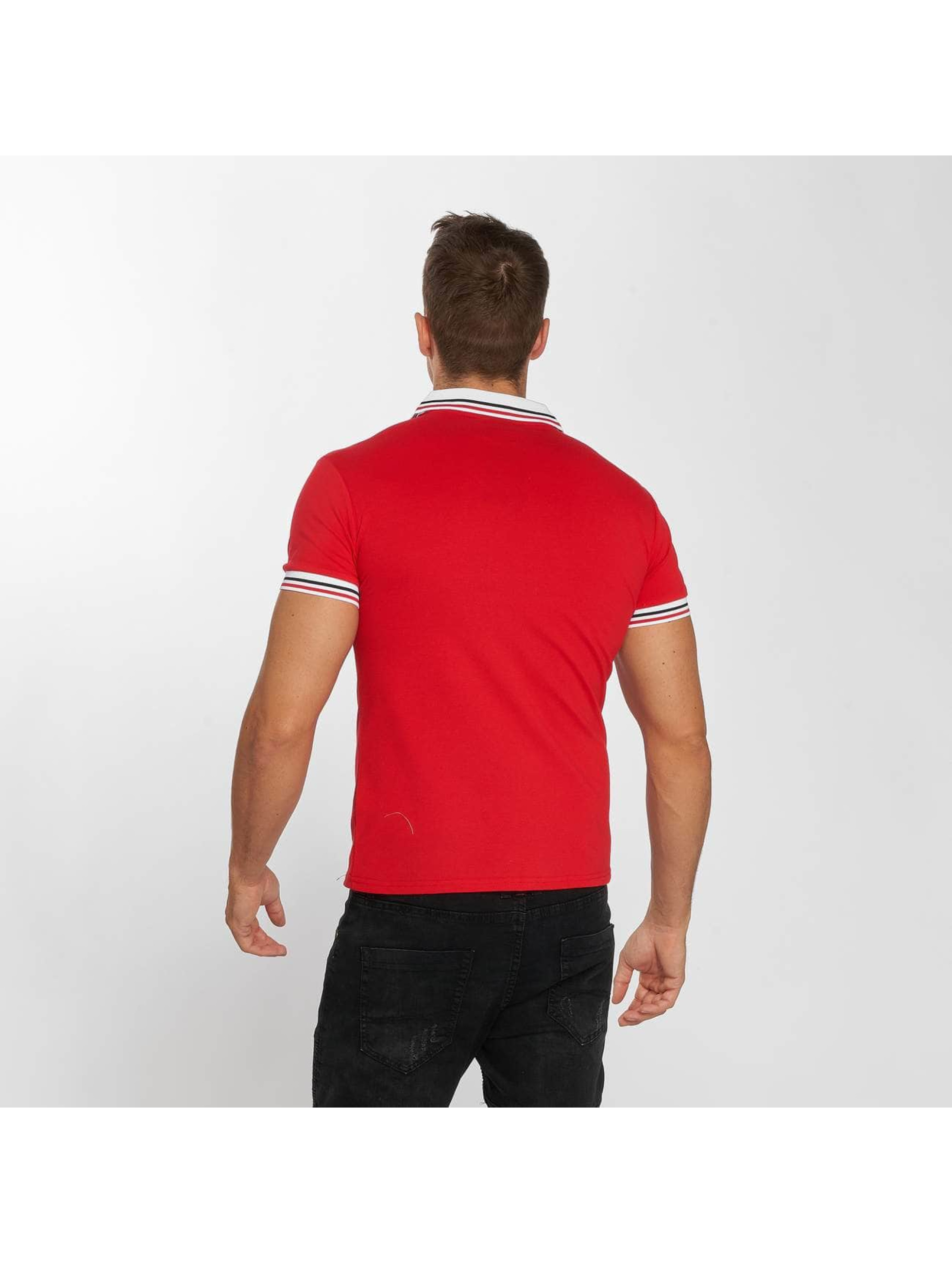 Aarhon Polo Stripes rouge