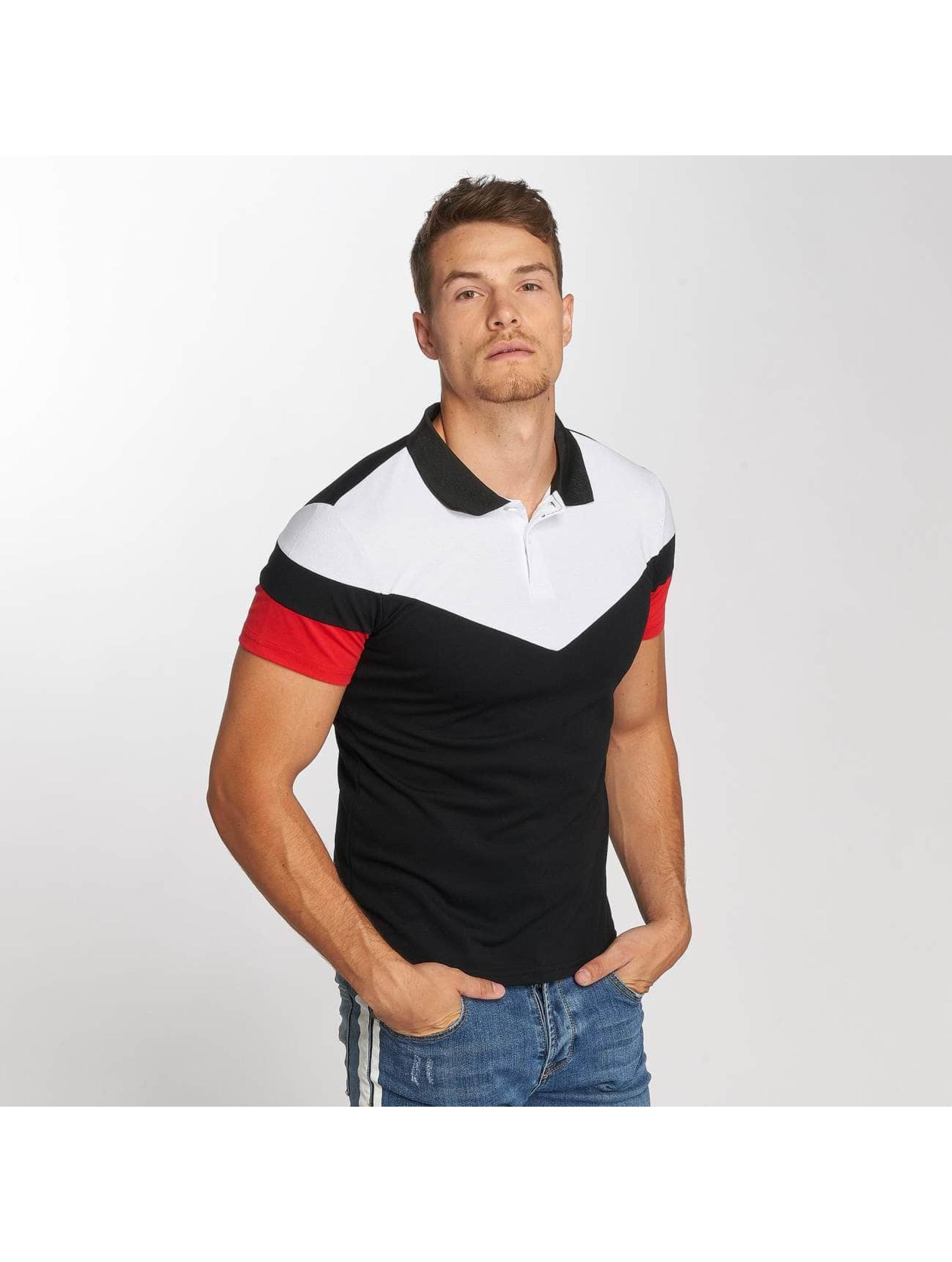 Aarhon Poloshirt Tricolor black