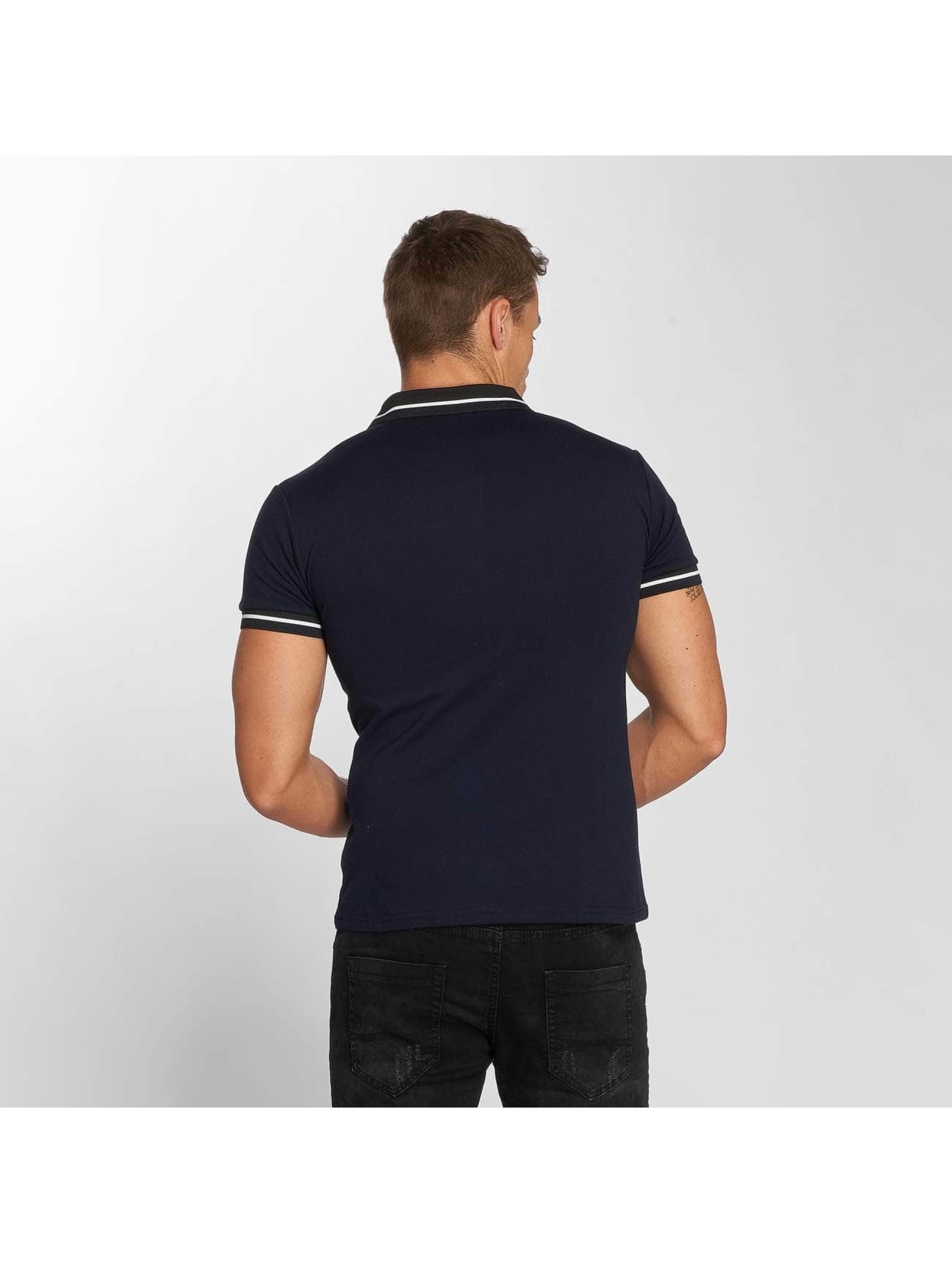 Aarhon Poloshirt Block Stripes blau