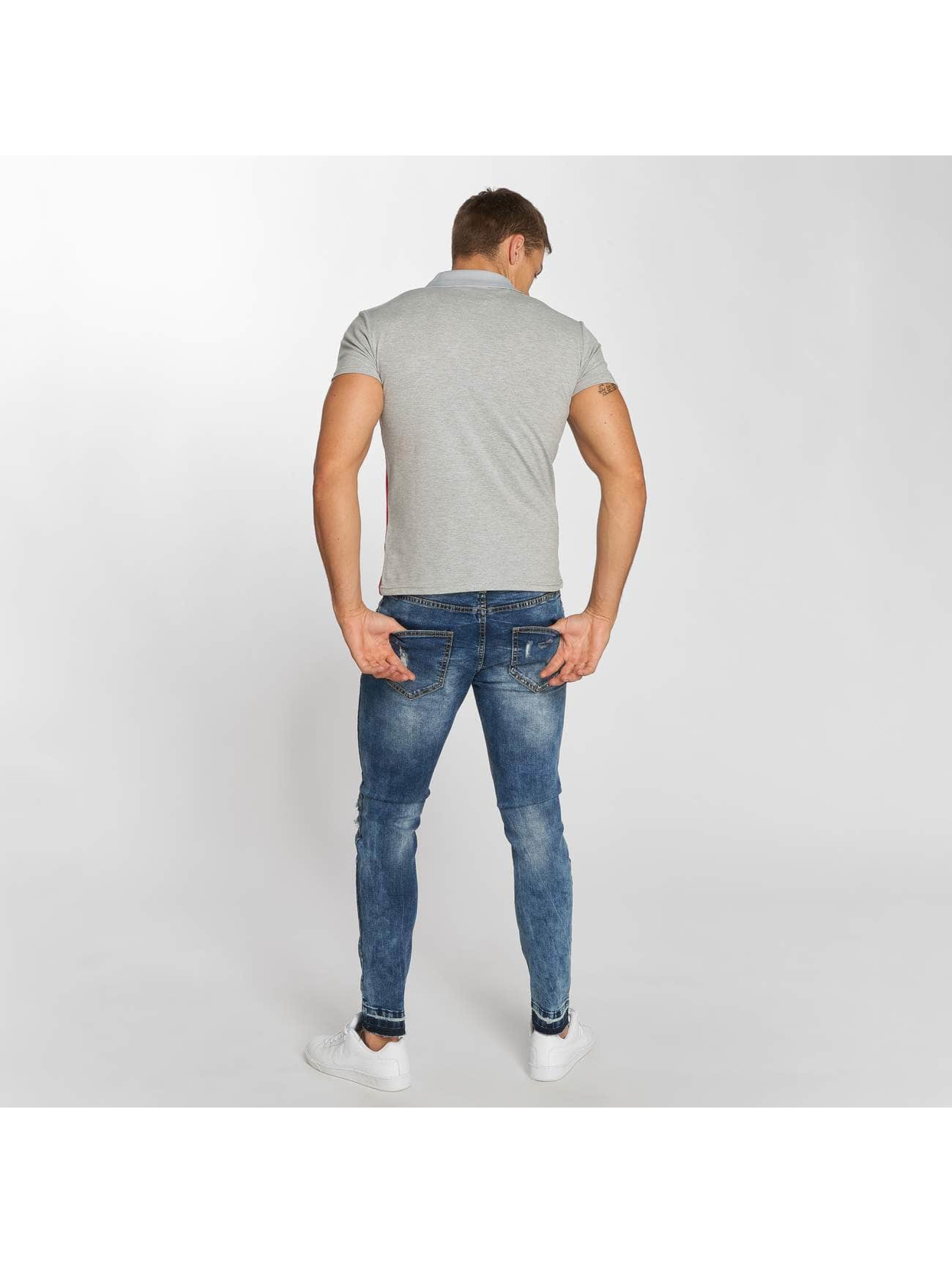 Aarhon Poloshirt Stripes grau