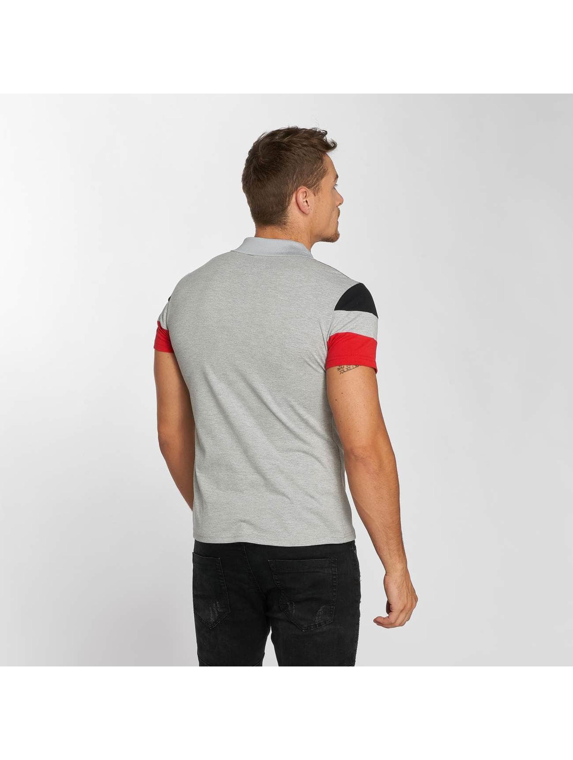 Aarhon Poloshirt Block grau