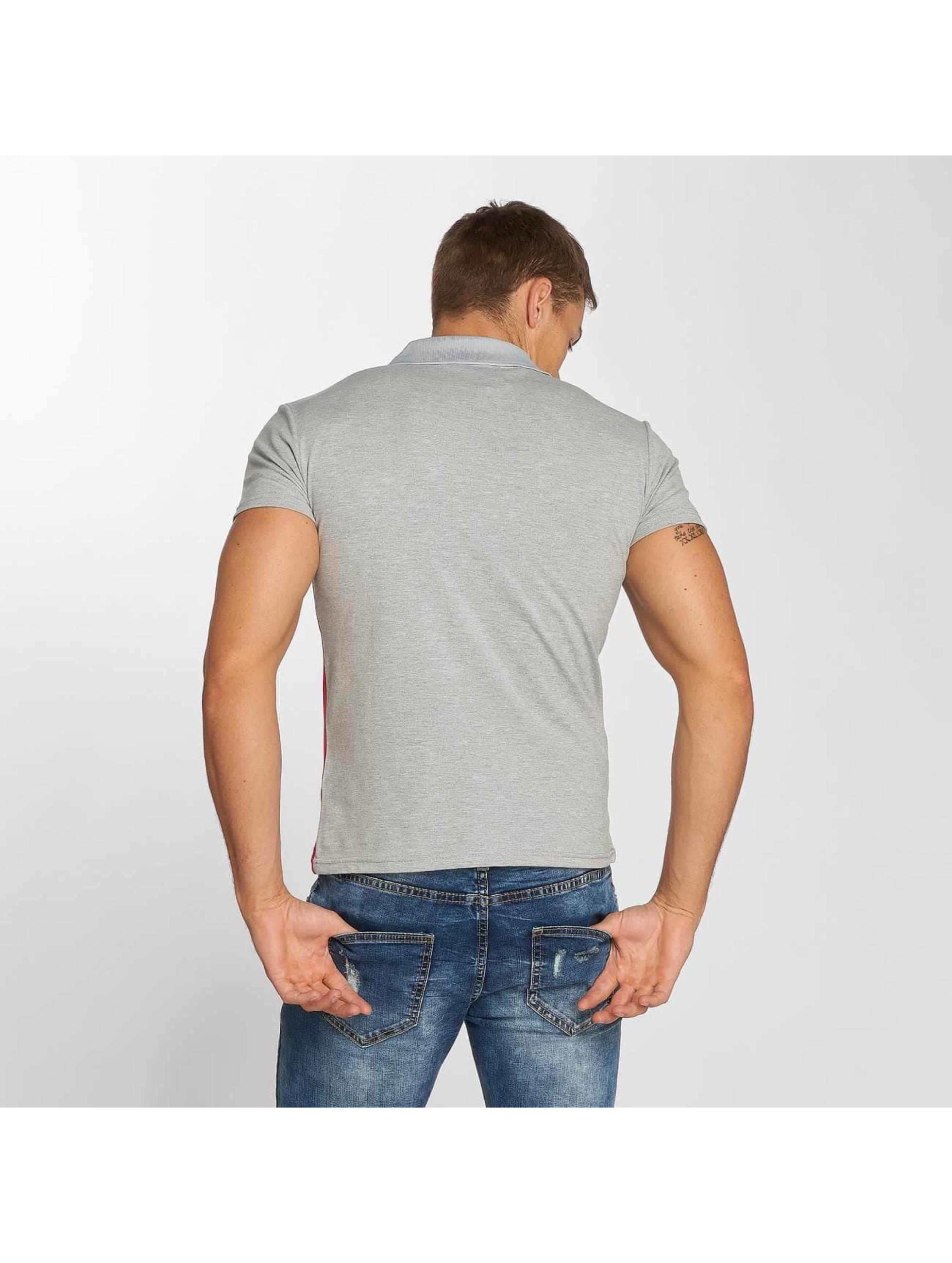 Aarhon Poloshirt Stripes grey
