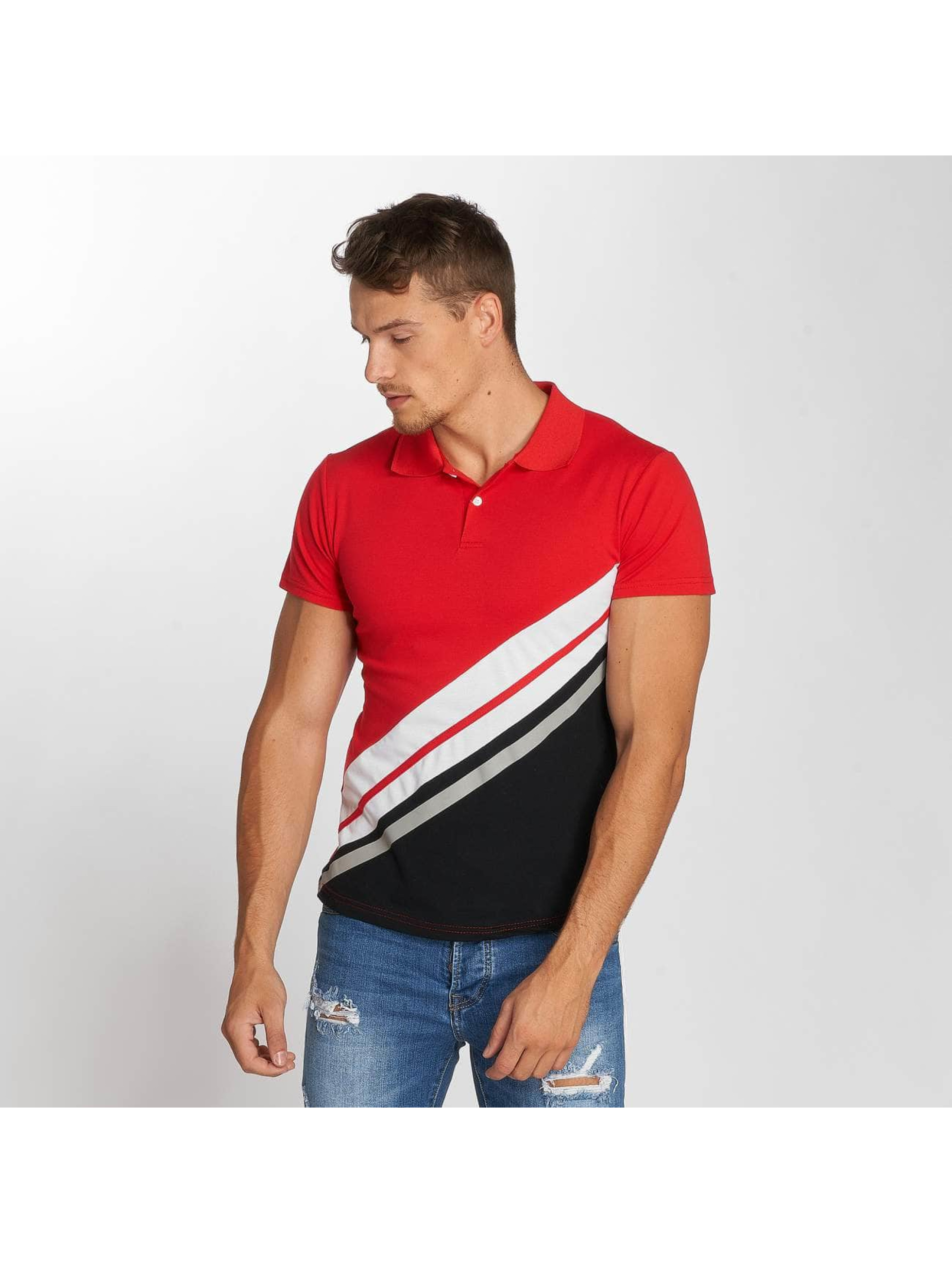 Aarhon Poloshirt Diagonal red