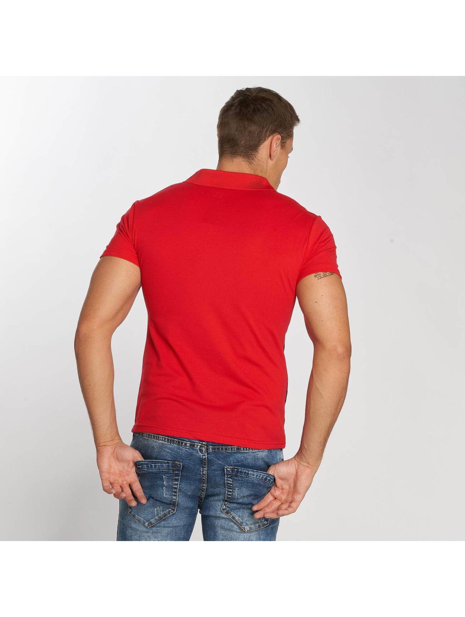 Aarhon Poloshirt Stripe rot