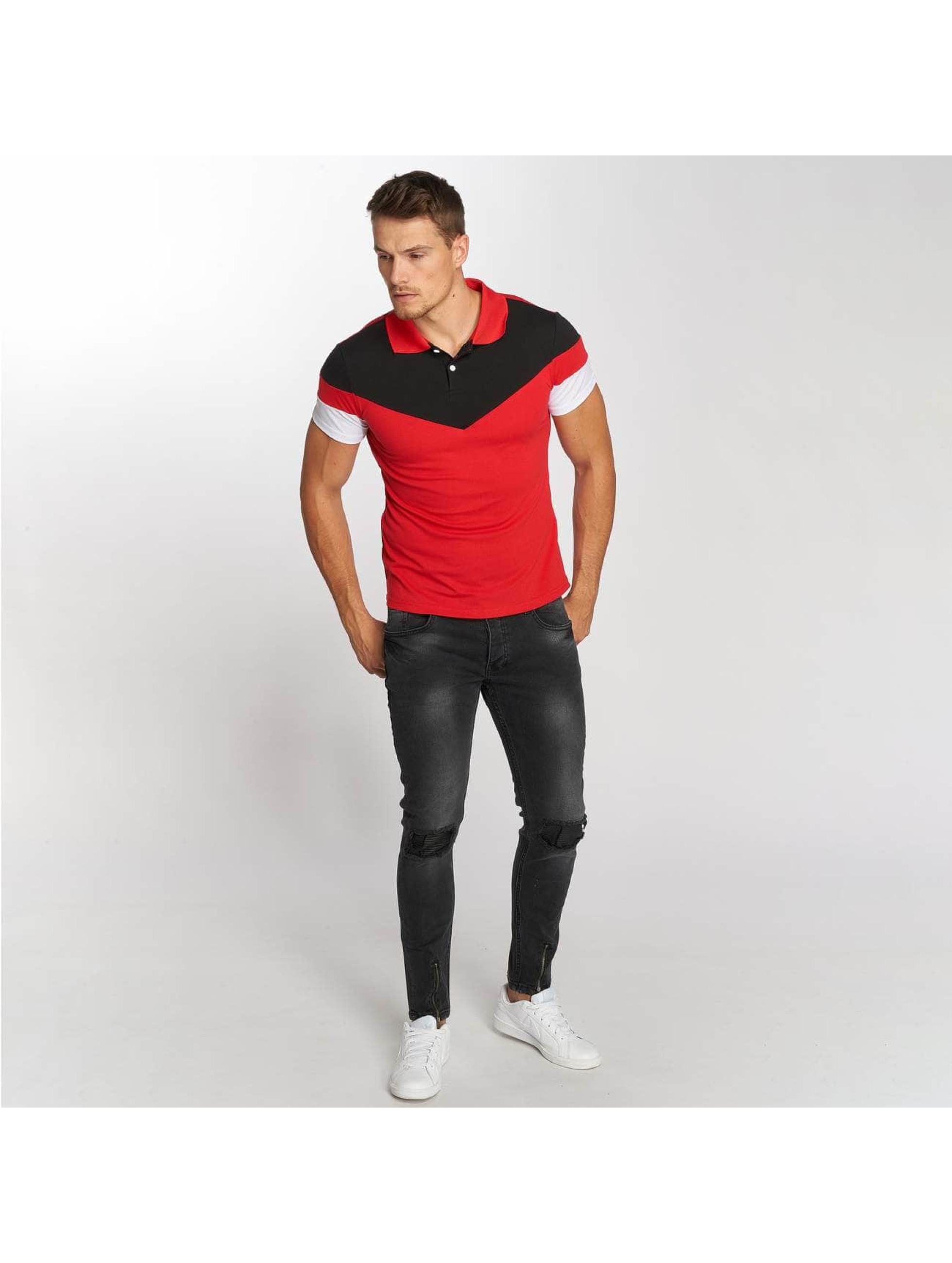 Aarhon Poloshirt Tricolor rot