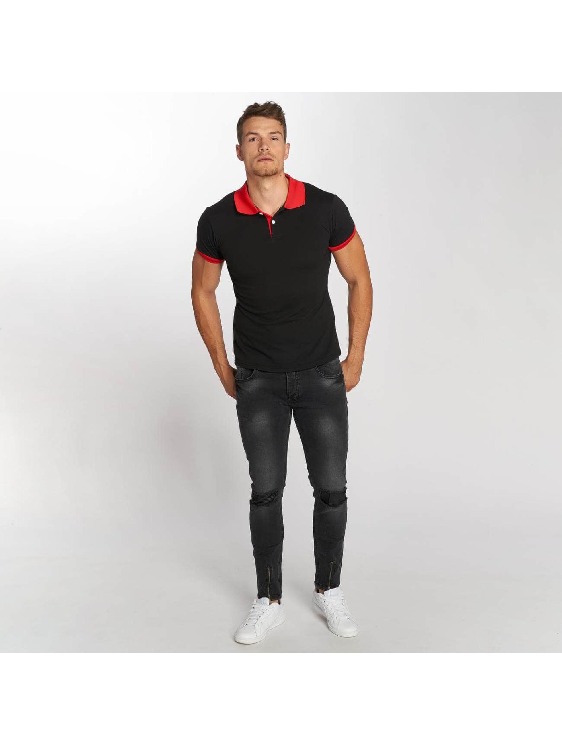 Aarhon Poloshirt Two-Tone schwarz