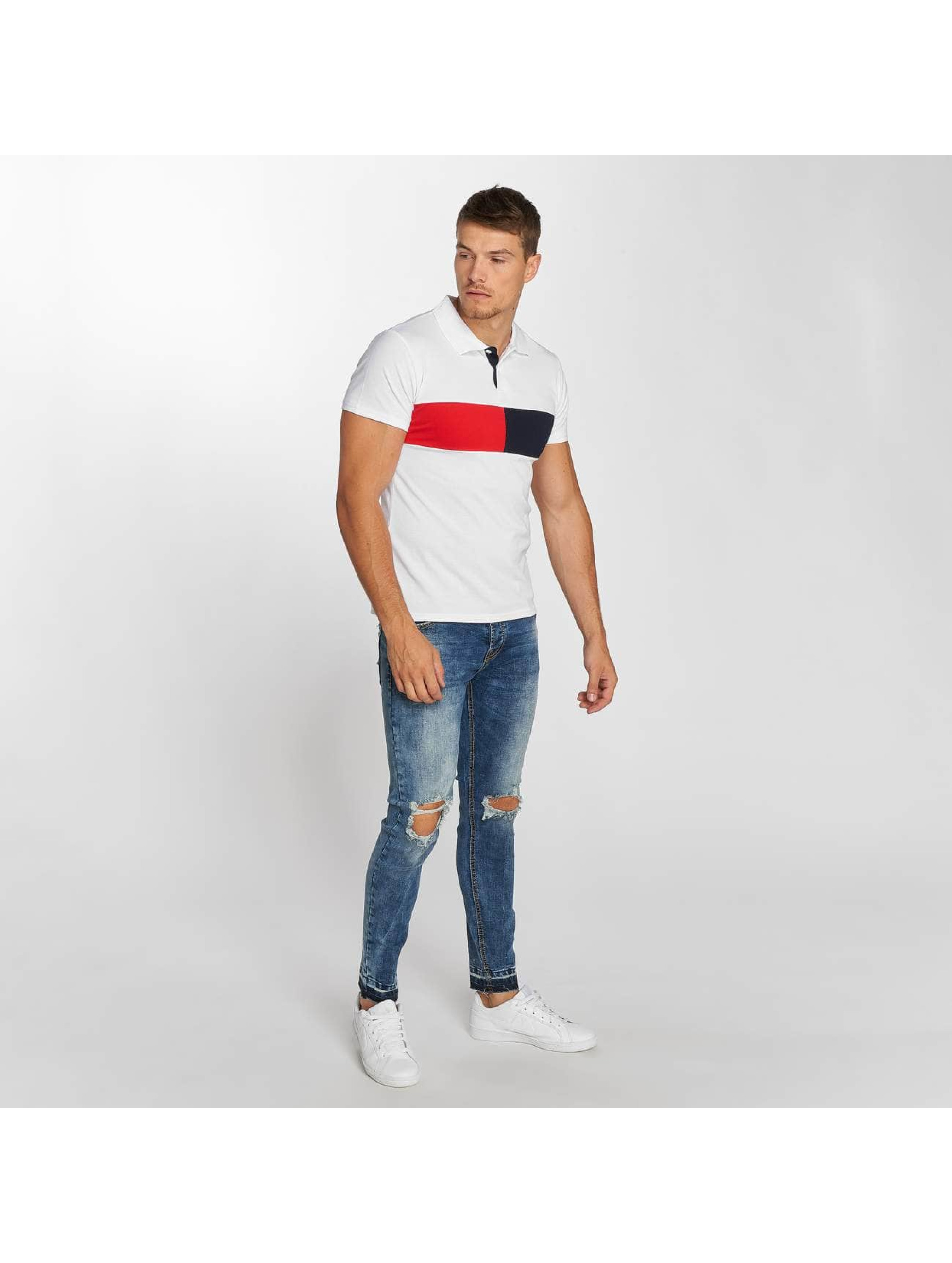 Aarhon Poloshirt Stripe weiß