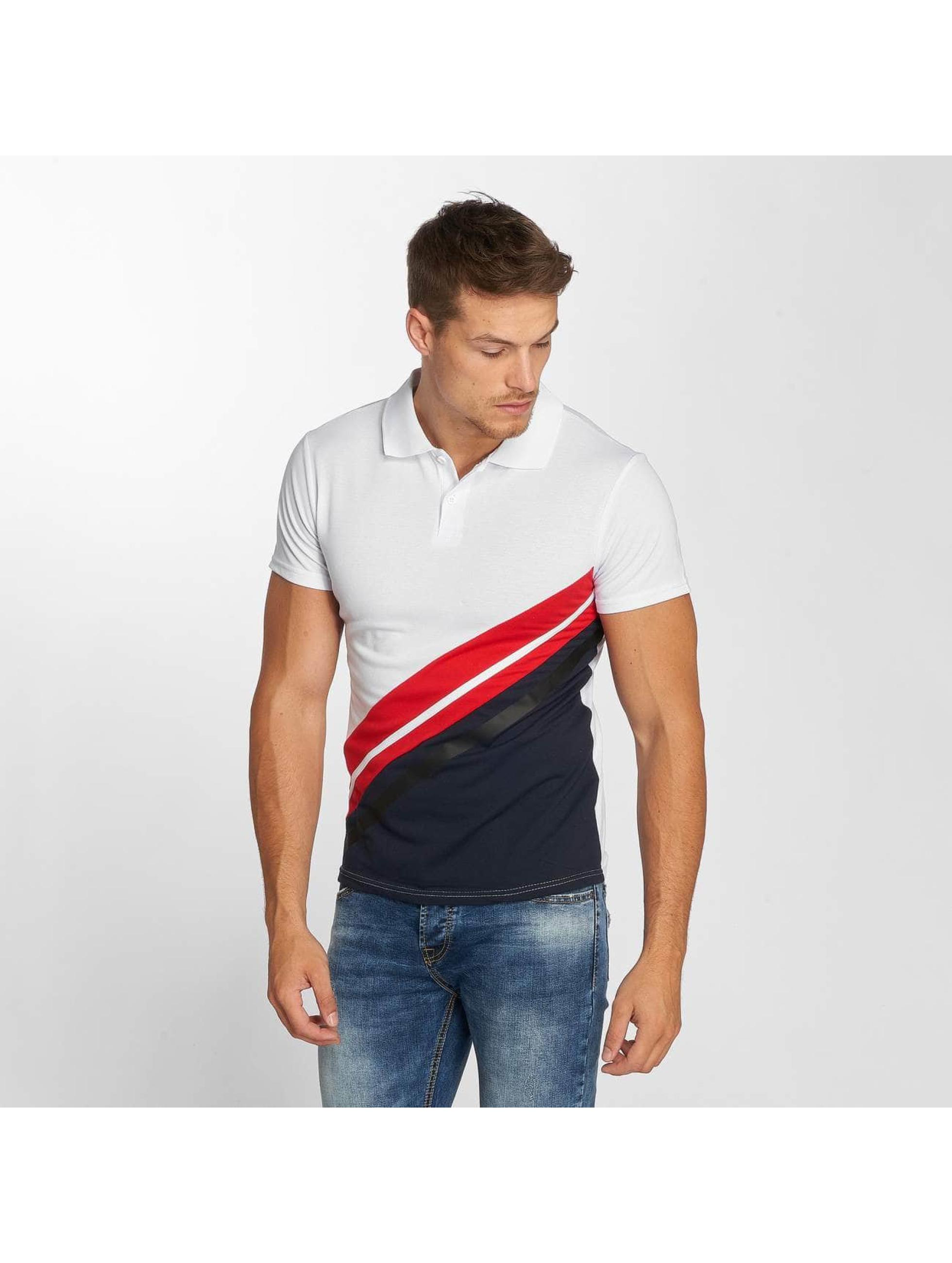 Aarhon Poloshirt Diagonal white