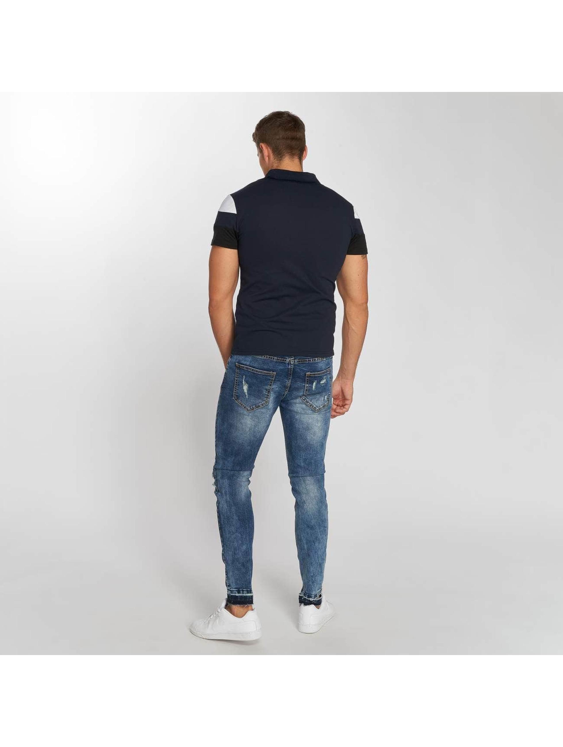 Aarhon Poloskjorter Block blå