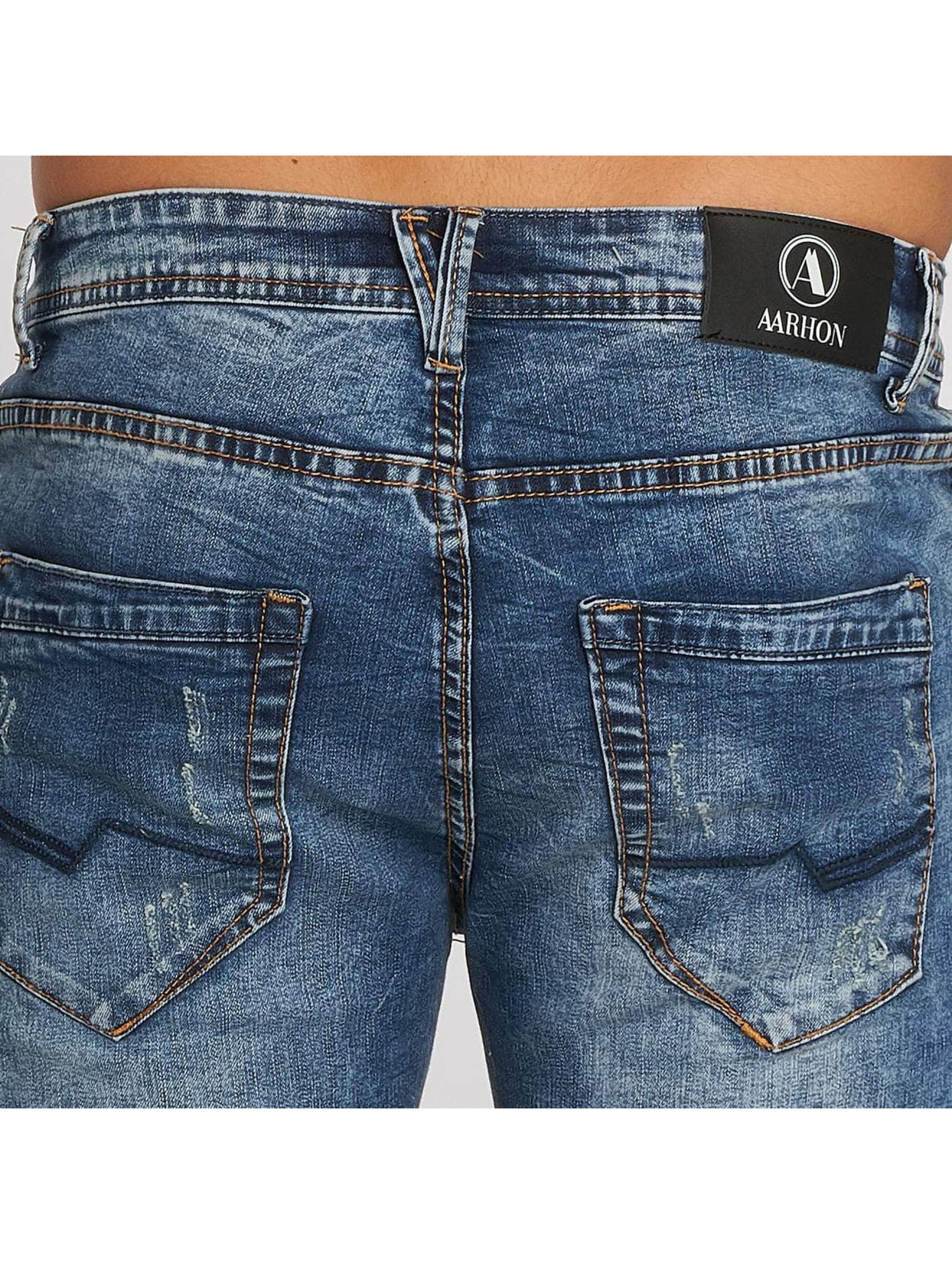 Aarhon Shorts Destroyed blå