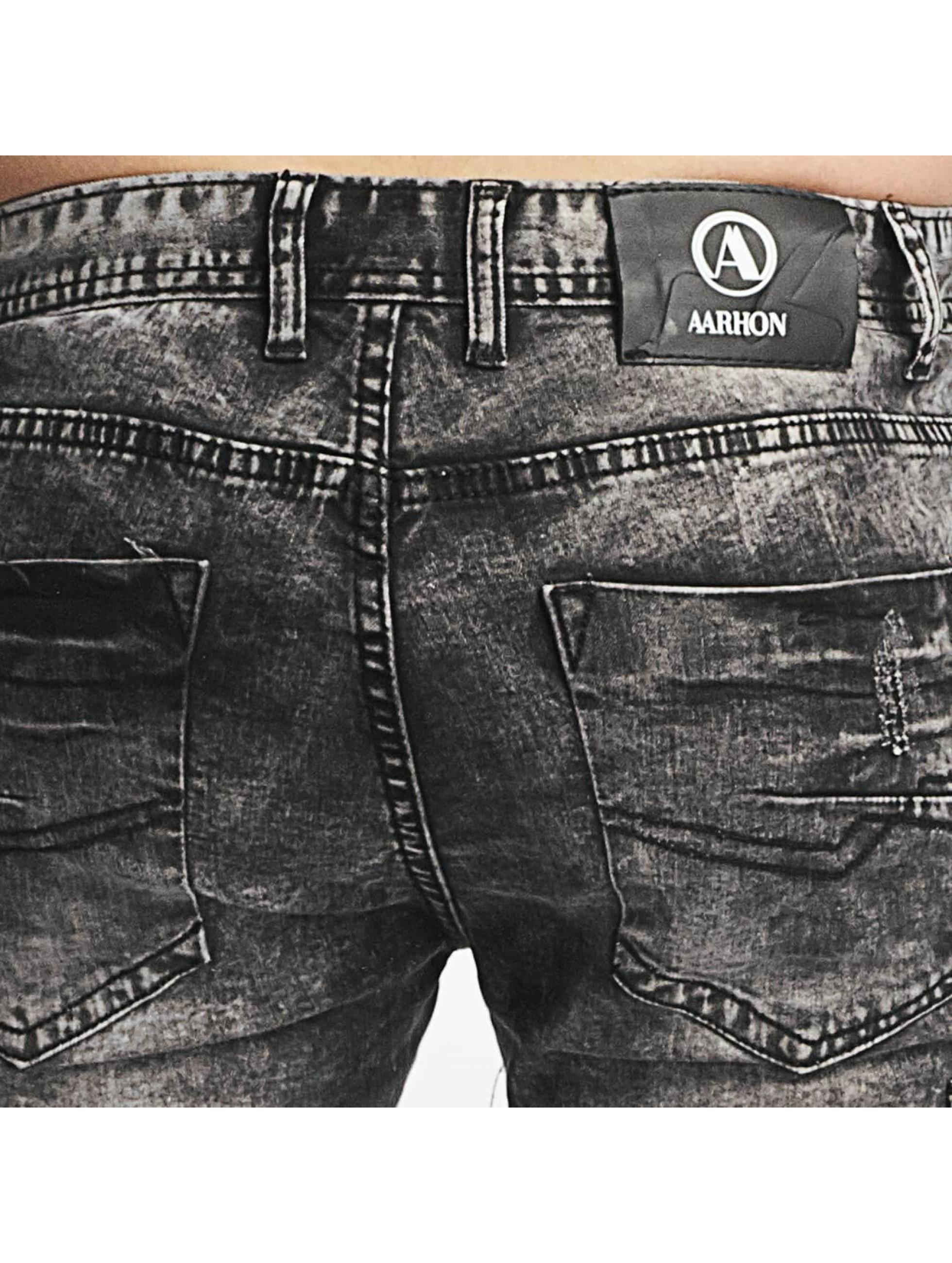Aarhon Slim Fit Jeans Nizza schwarz