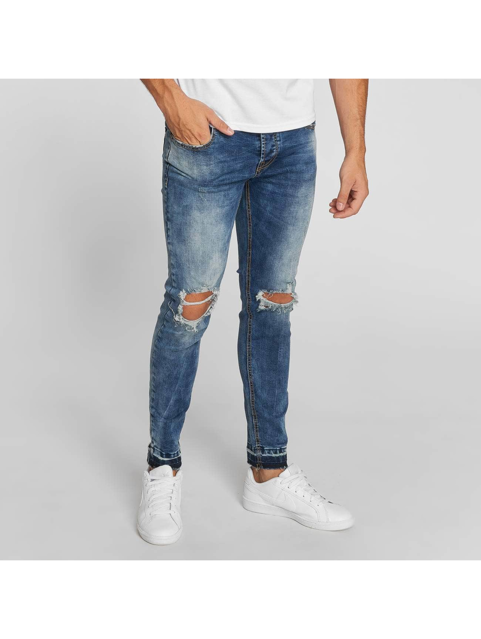 Aarhon Straight Fit Jeans Washed blå