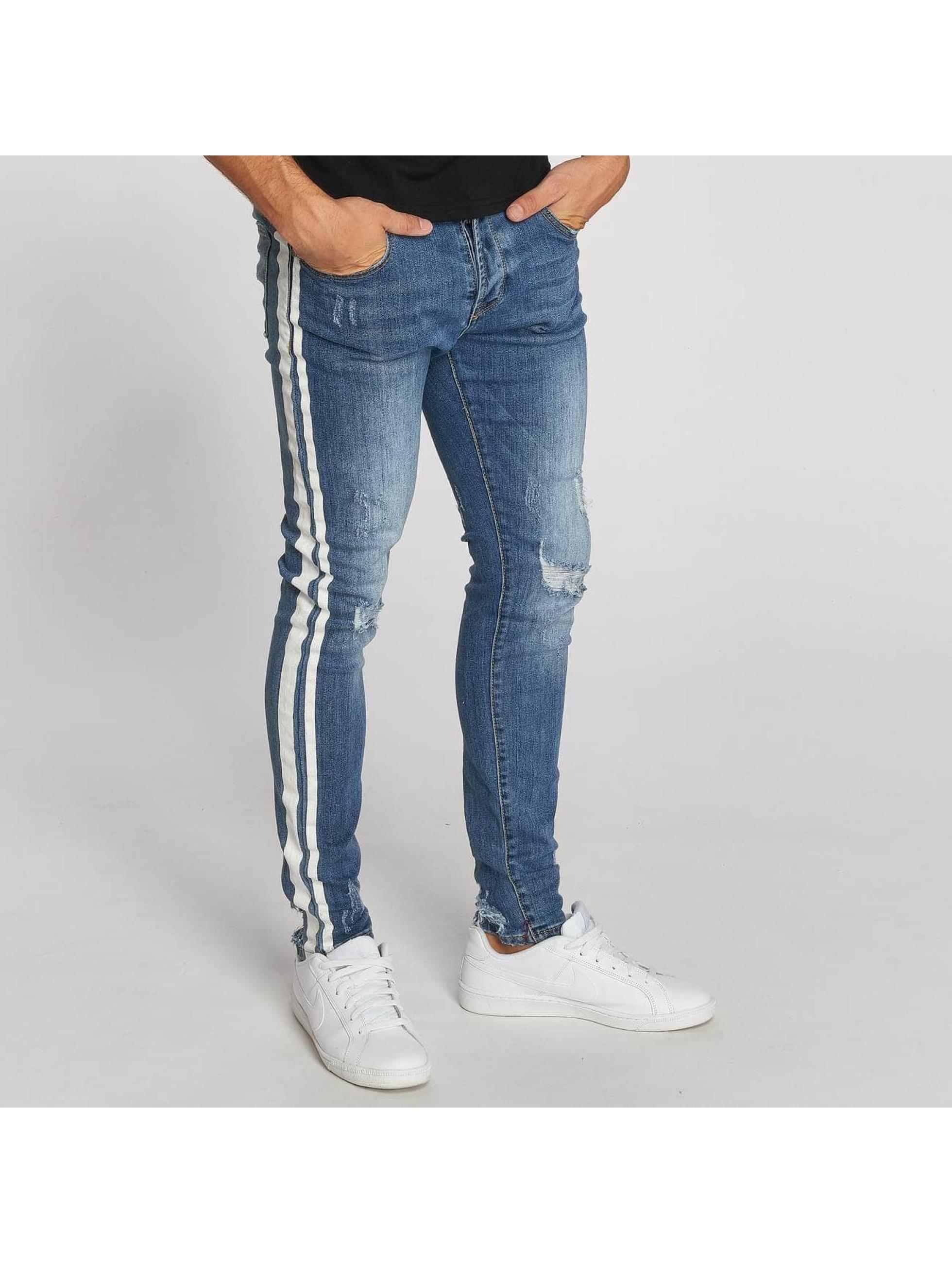 Aarhon Straight Fit Jeans Stripe blue