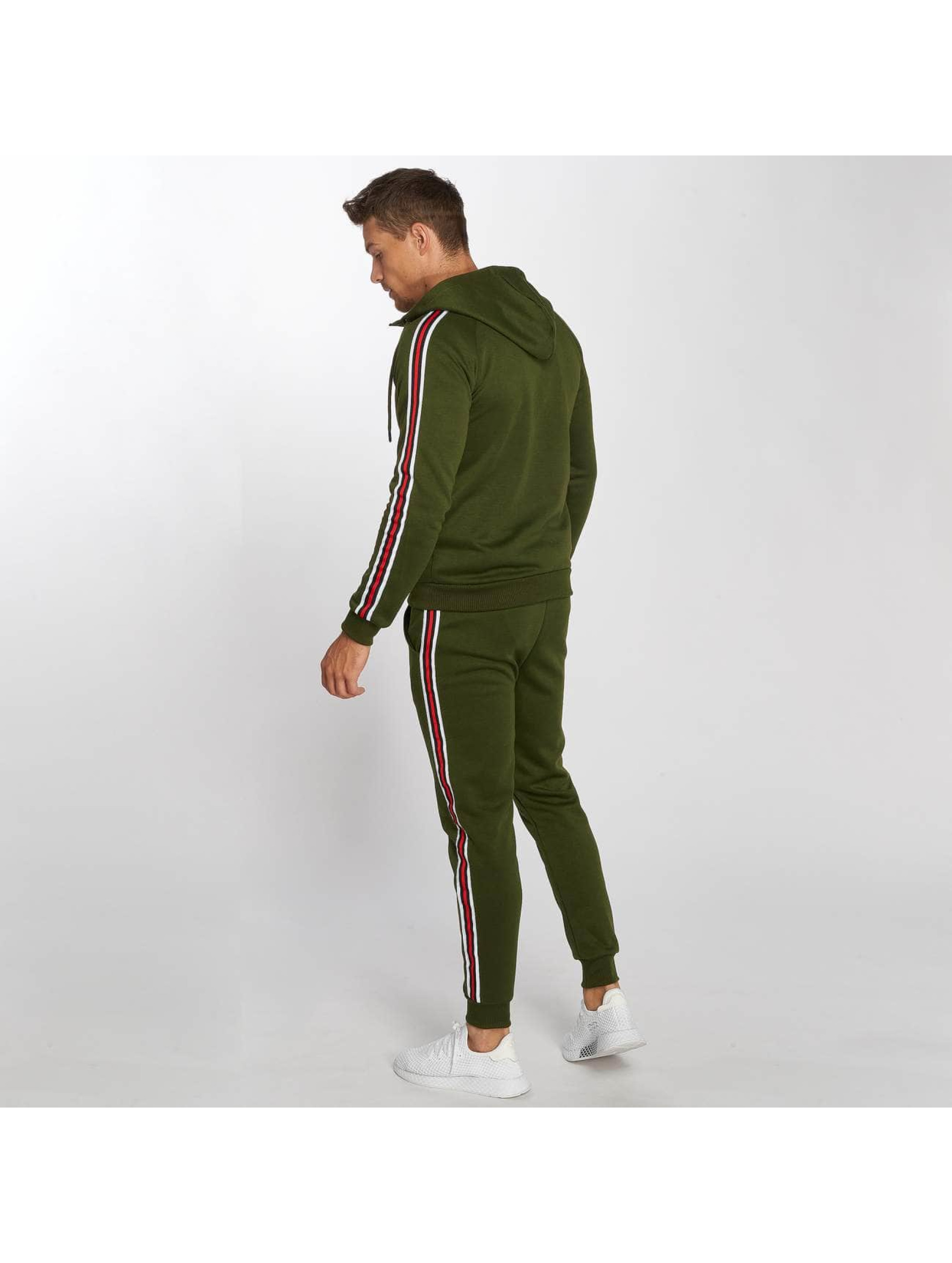 Aarhon Suits Coloured Stripes khaki