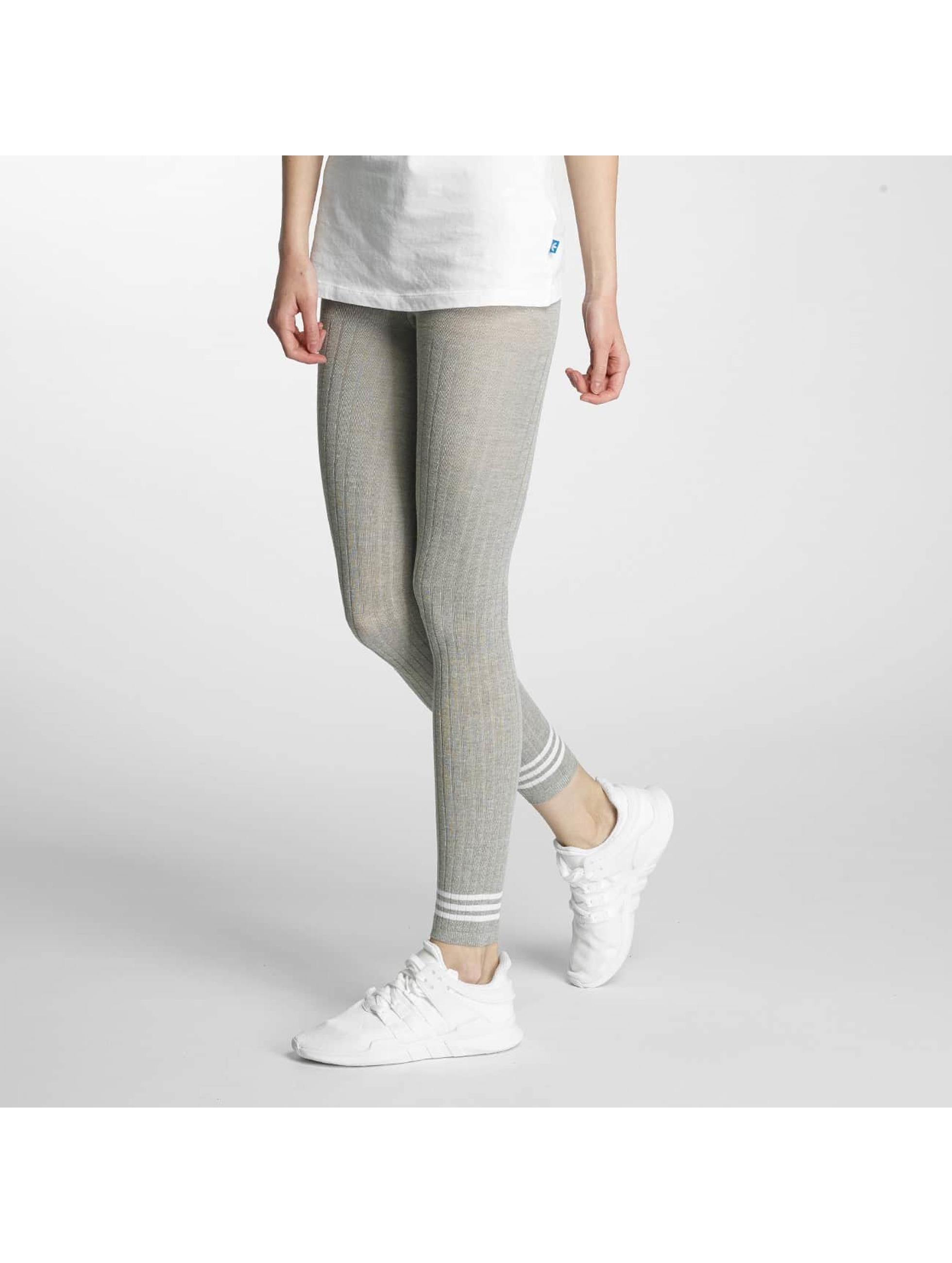 adidas Леггинсы 3 Stripes серый