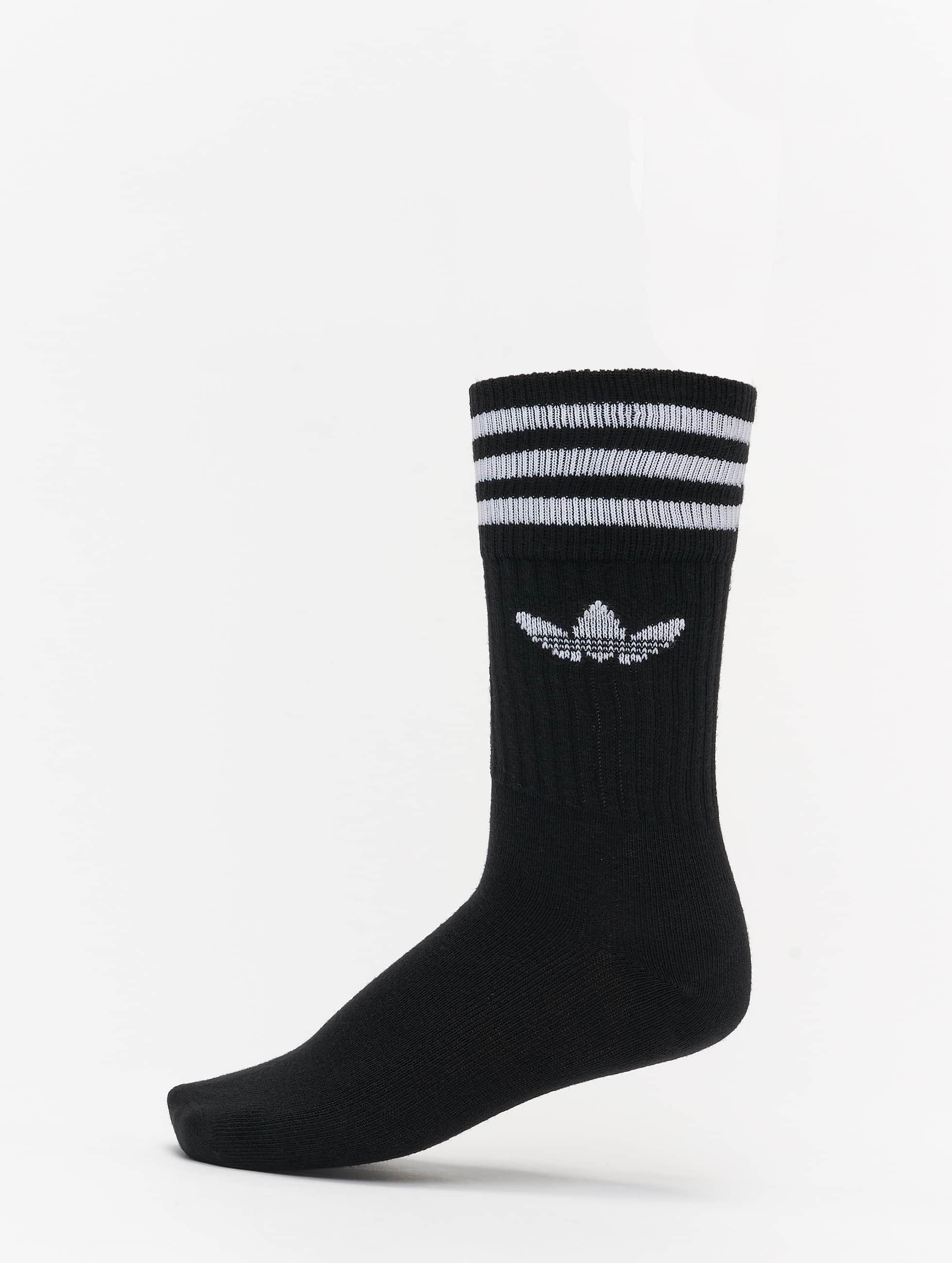adidas Носки Solid Crew черный
