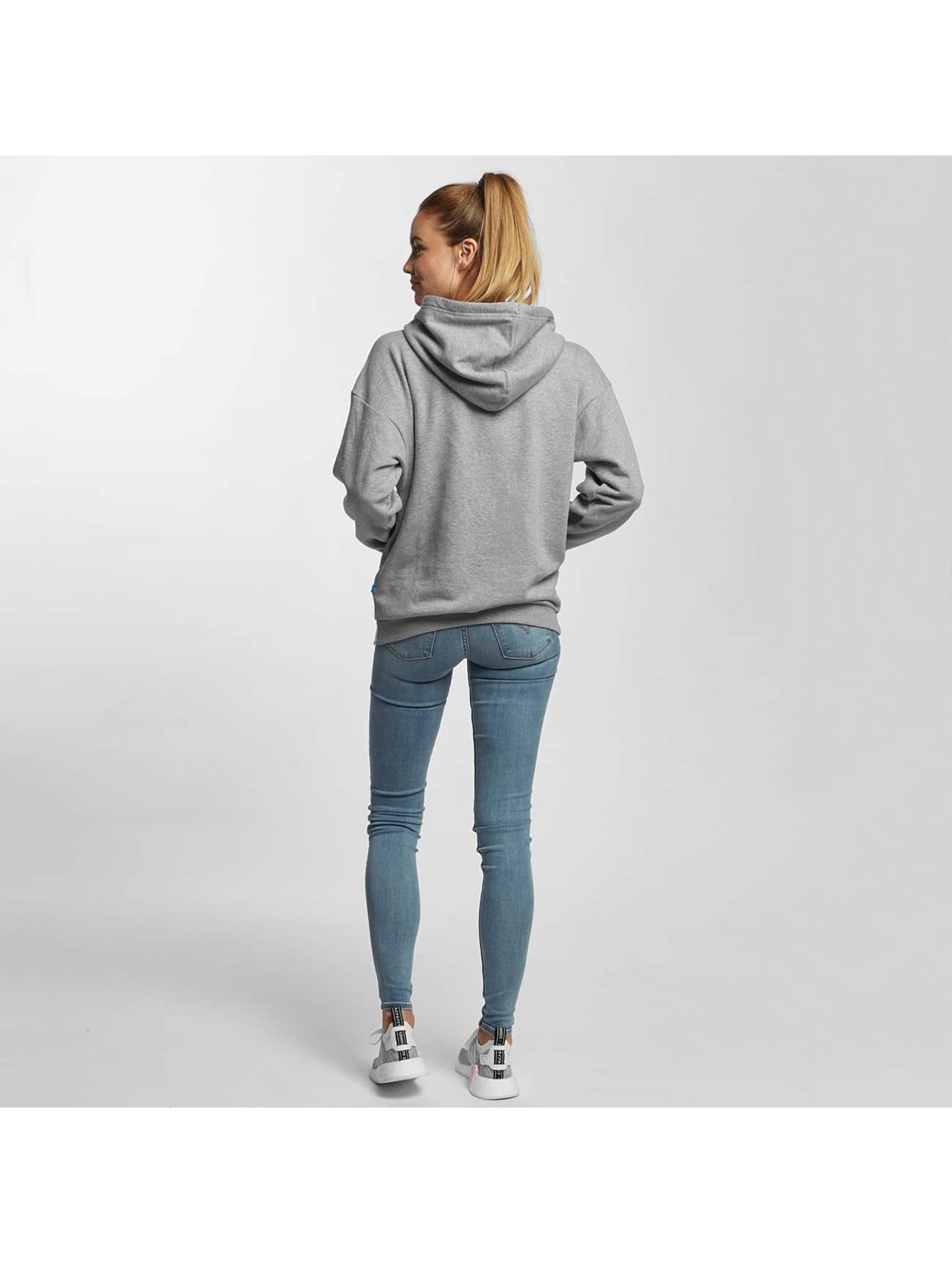 adidas Bluzy z kapturem Trefoil szary