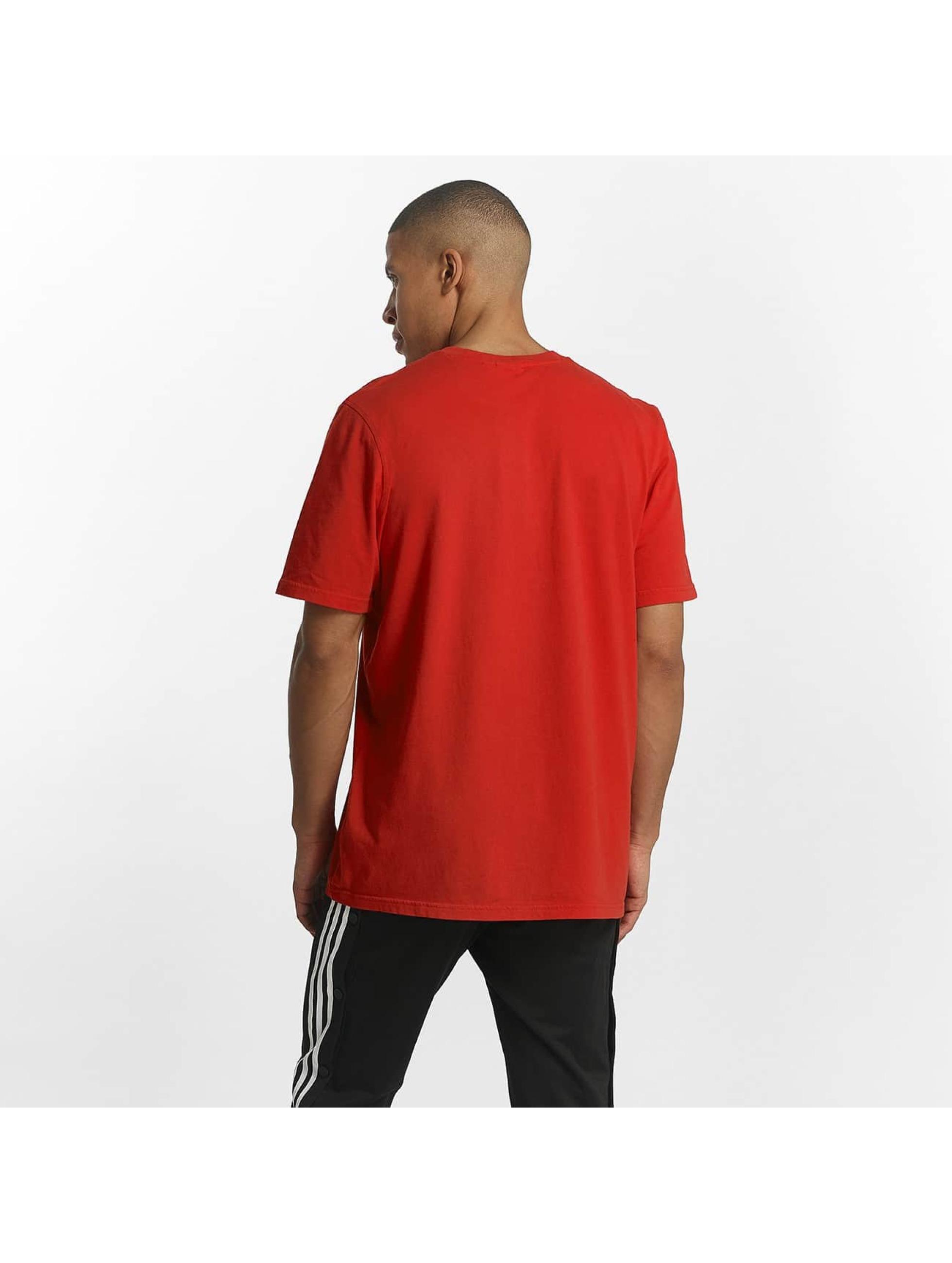 adidas Camiseta Trefoil rojo