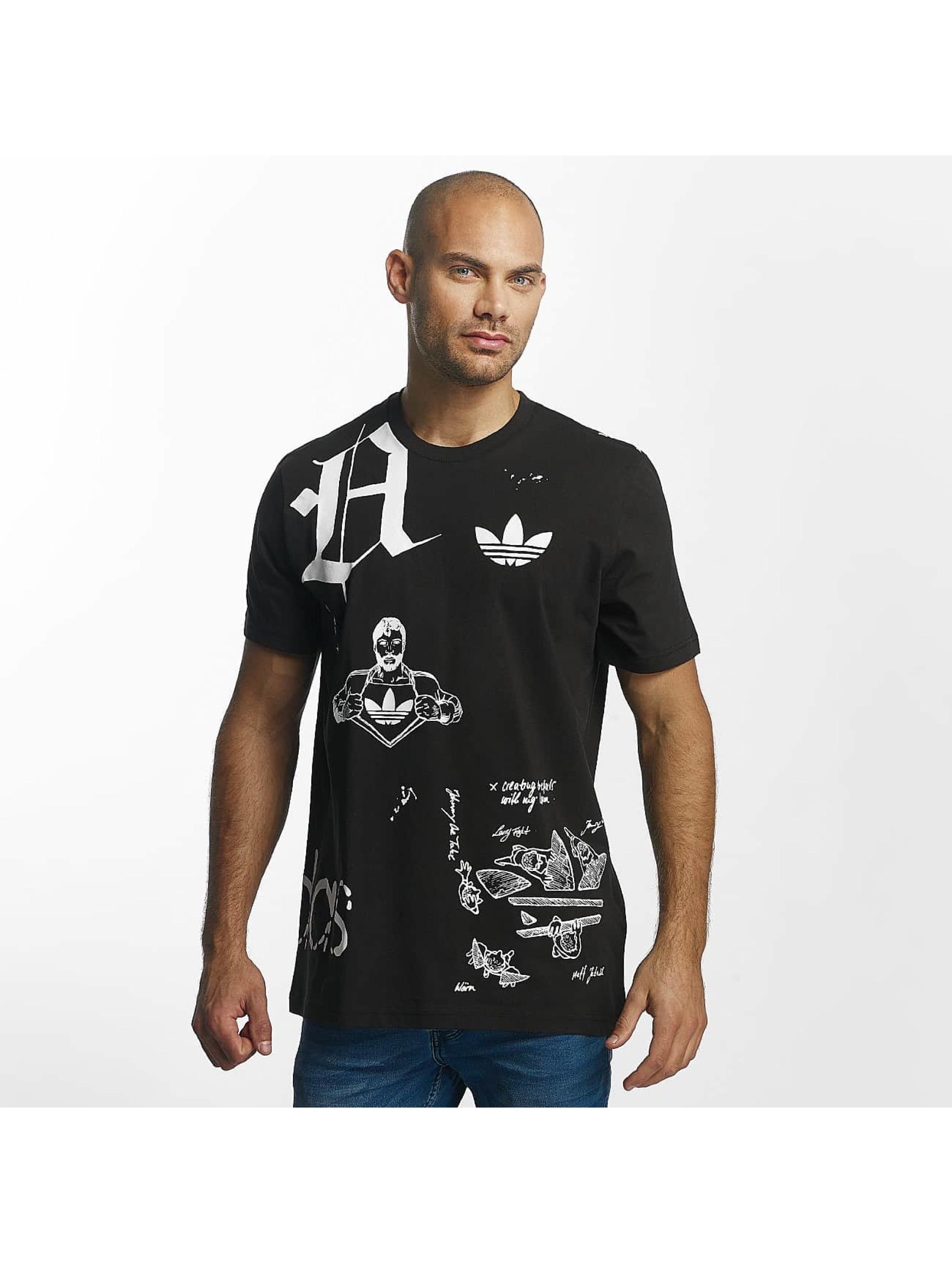 adidas originals Camiseta Off Placement negro