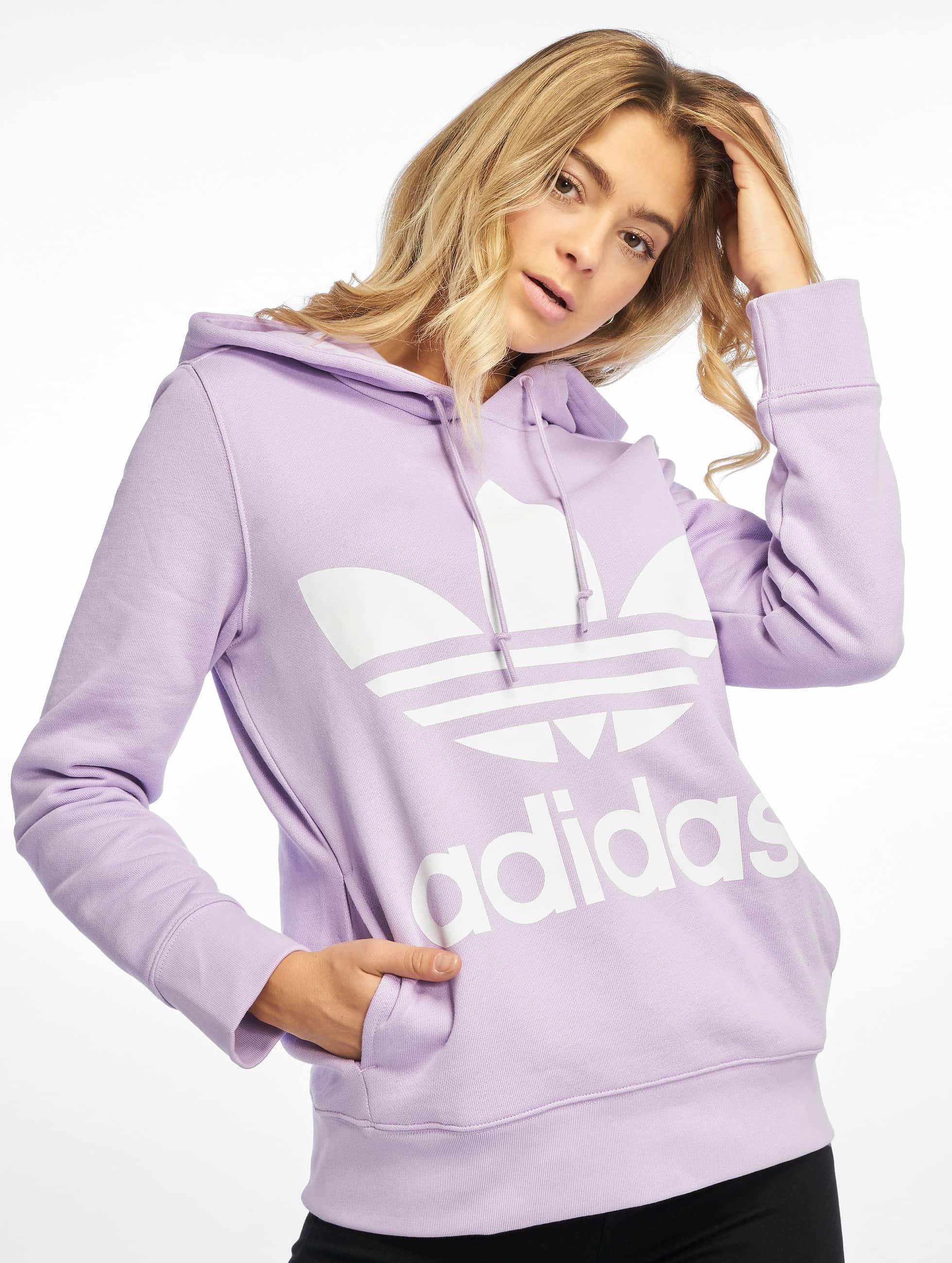 Adidas Originals Trefoil Hoody Purple Glow