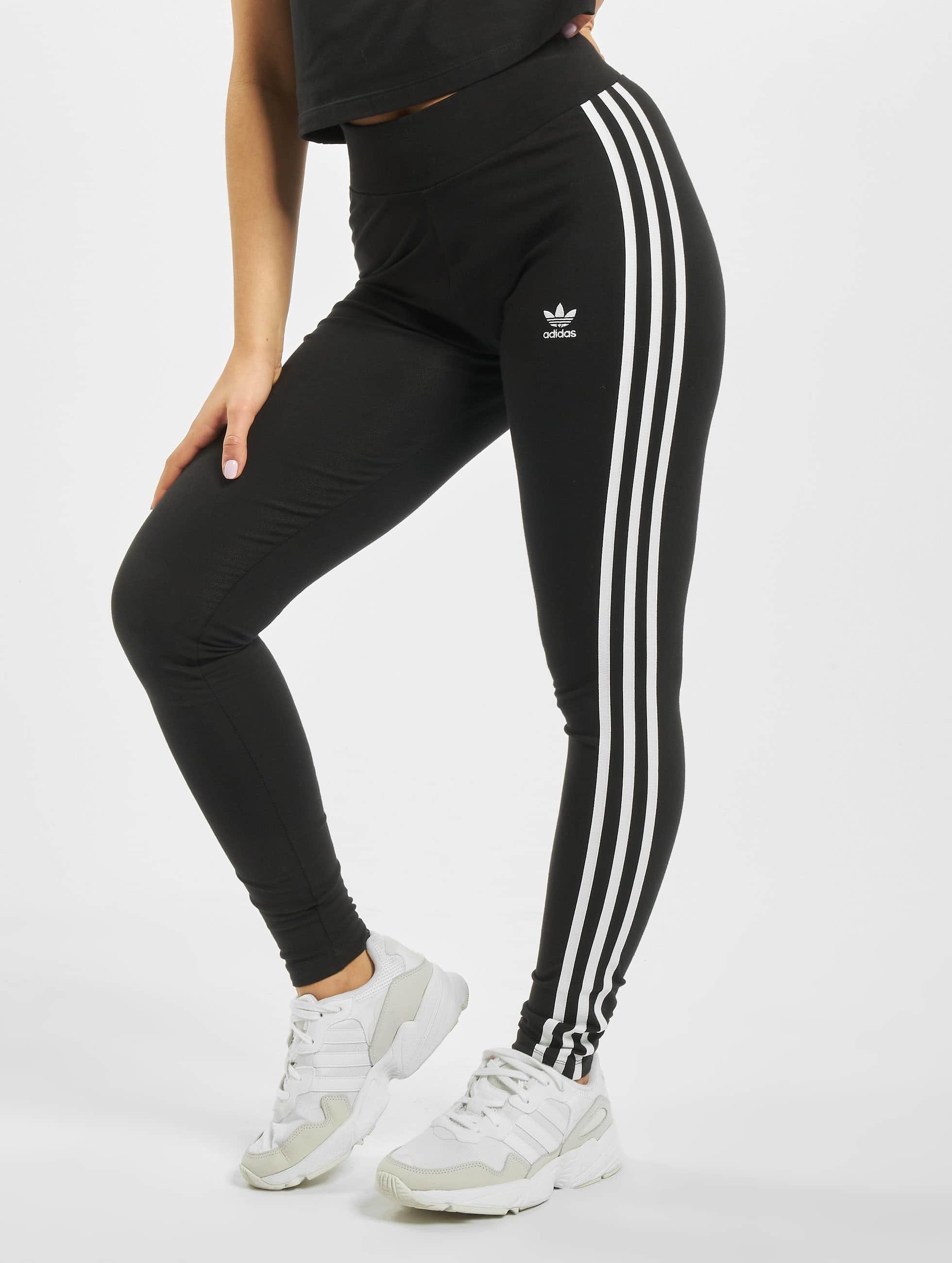 adidas Herren Tight Sporthose 3 Stripes schwarz