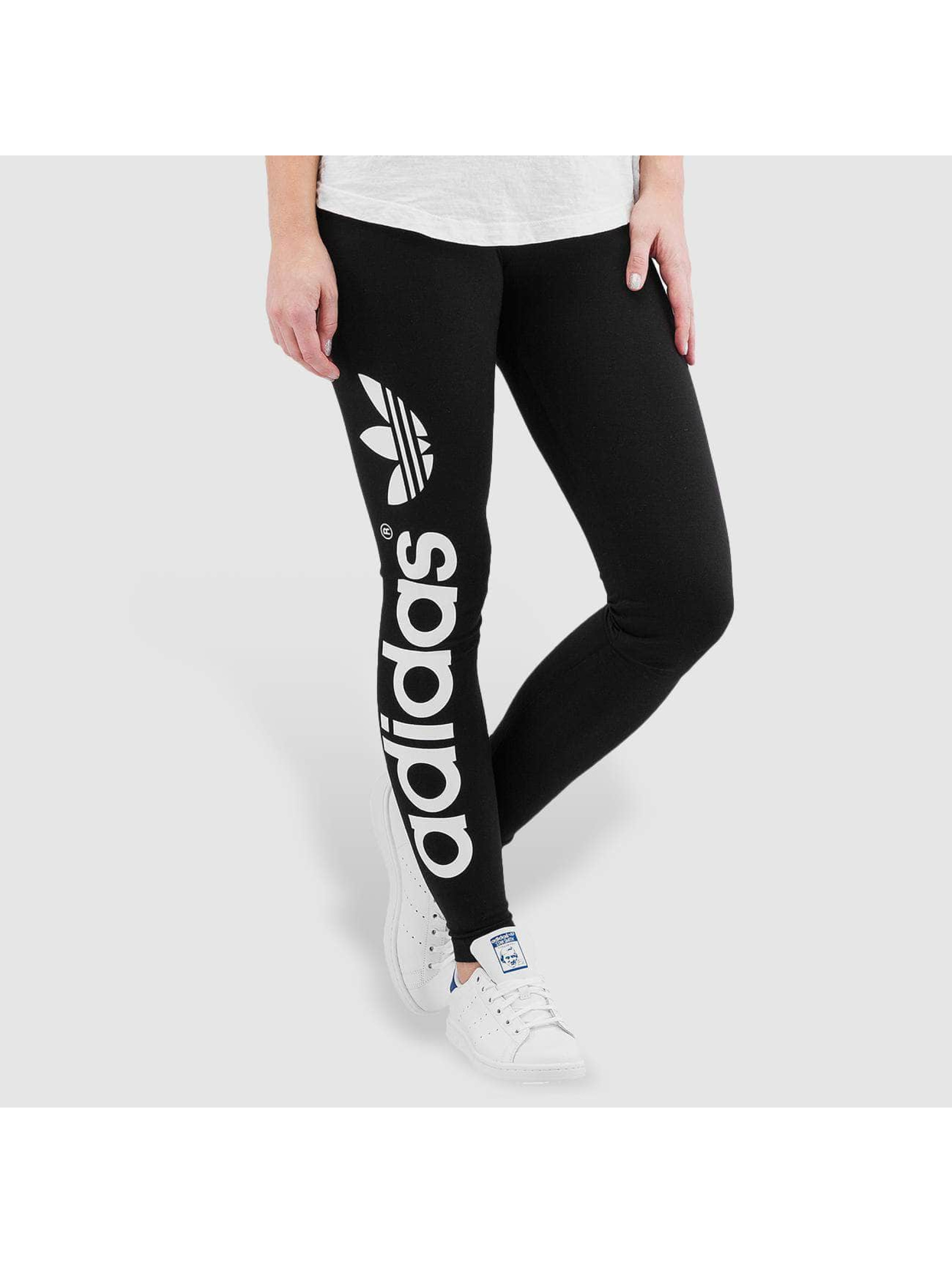 adidas originals broek legging linear in zwart 224498. Black Bedroom Furniture Sets. Home Design Ideas
