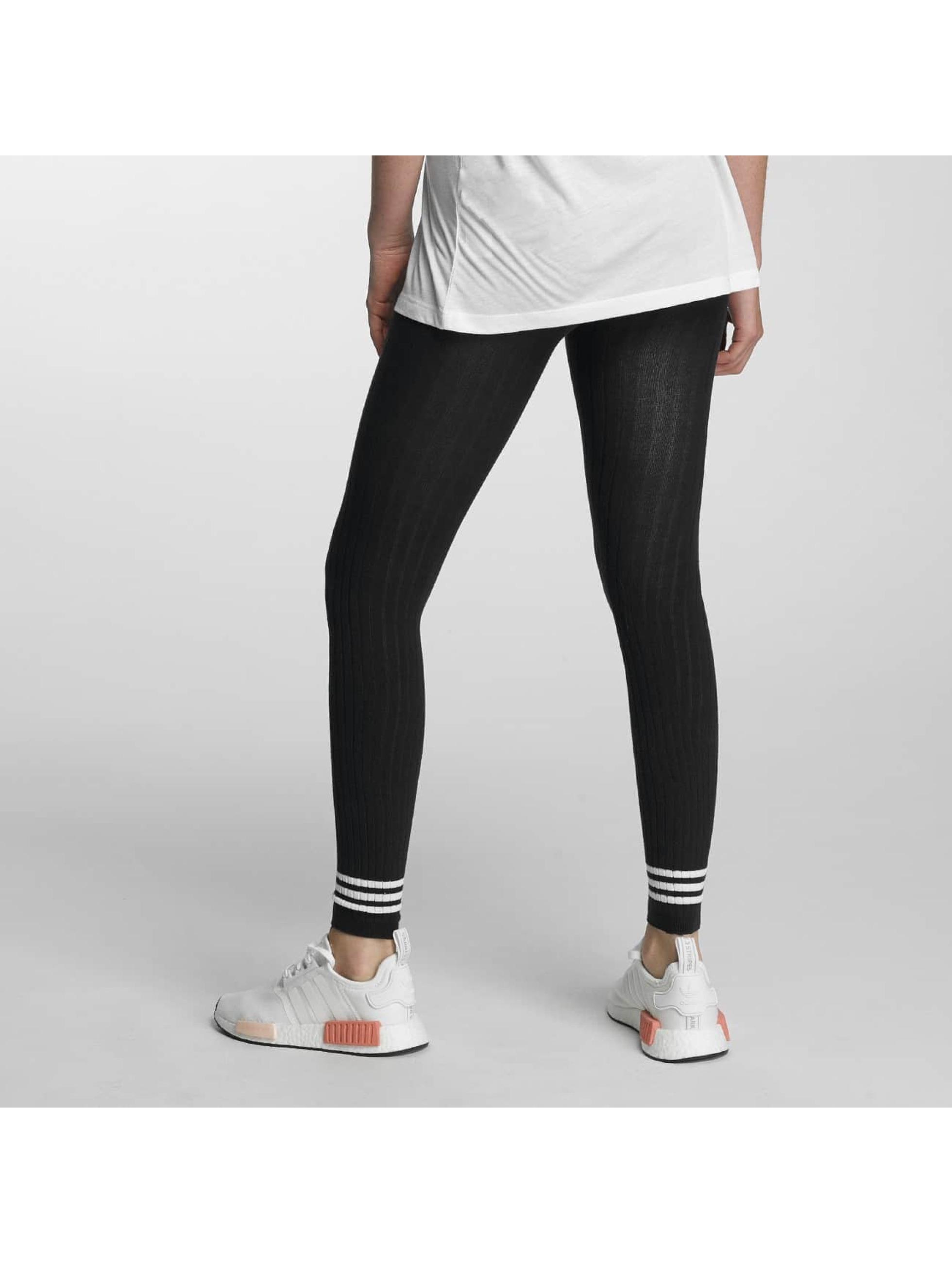 adidas originals Leggings/Treggings 3 Stripes niebieski