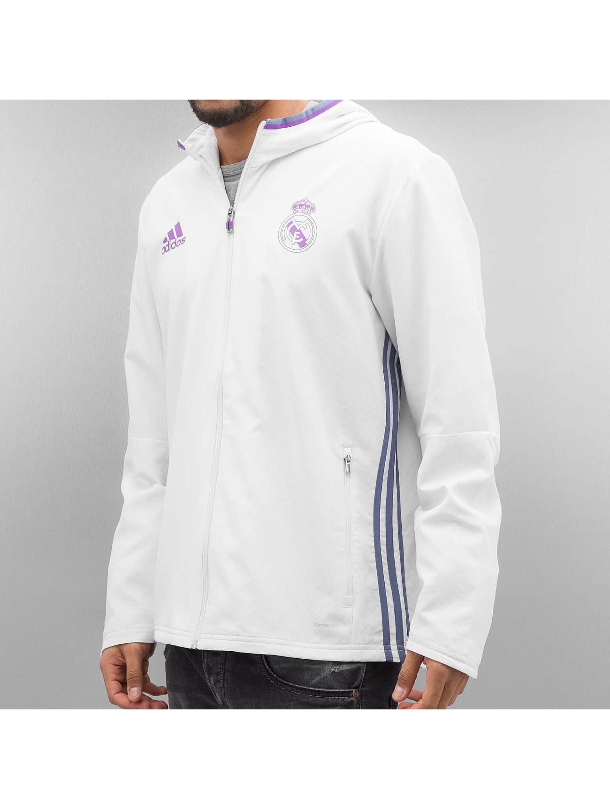 adidas originals Prechodné vetrovky Real Madrid biela