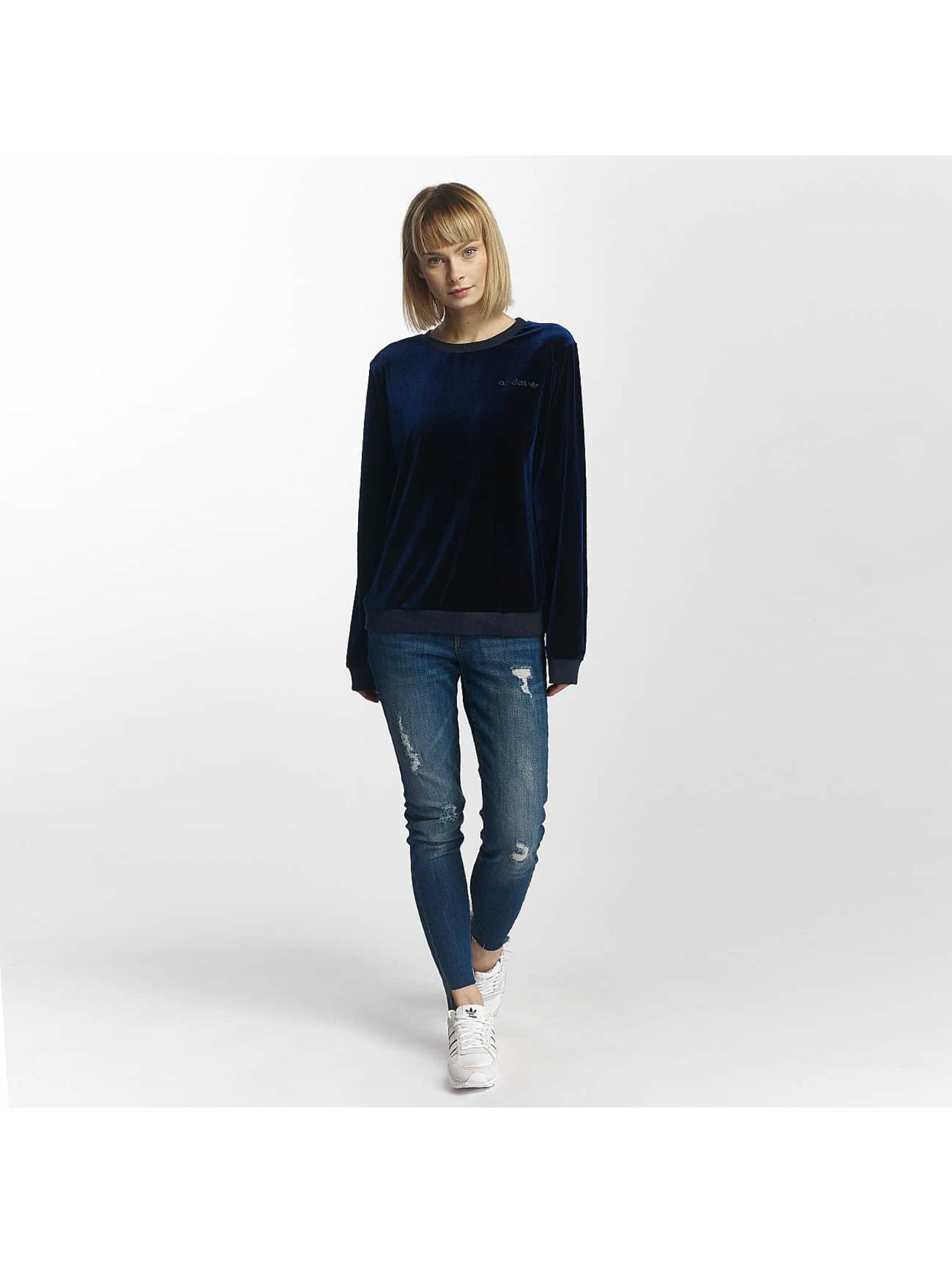 adidas originals Pullover Velvet blau