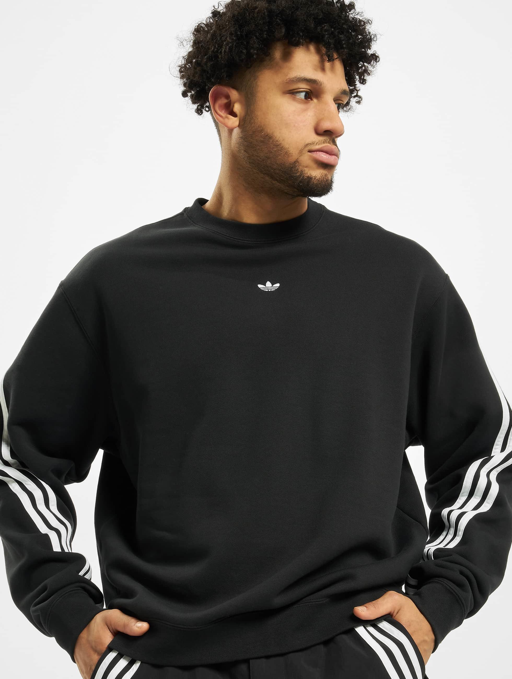 Adidas 3 Stripe Wrap Sweatshirt BlackWhite