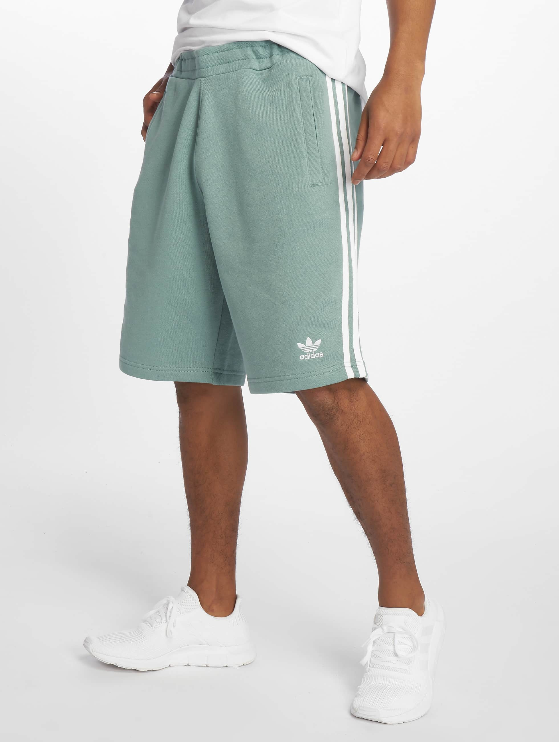 40e9c8233b5 adidas originals broek / shorts 3-Stripe in turquois 599337