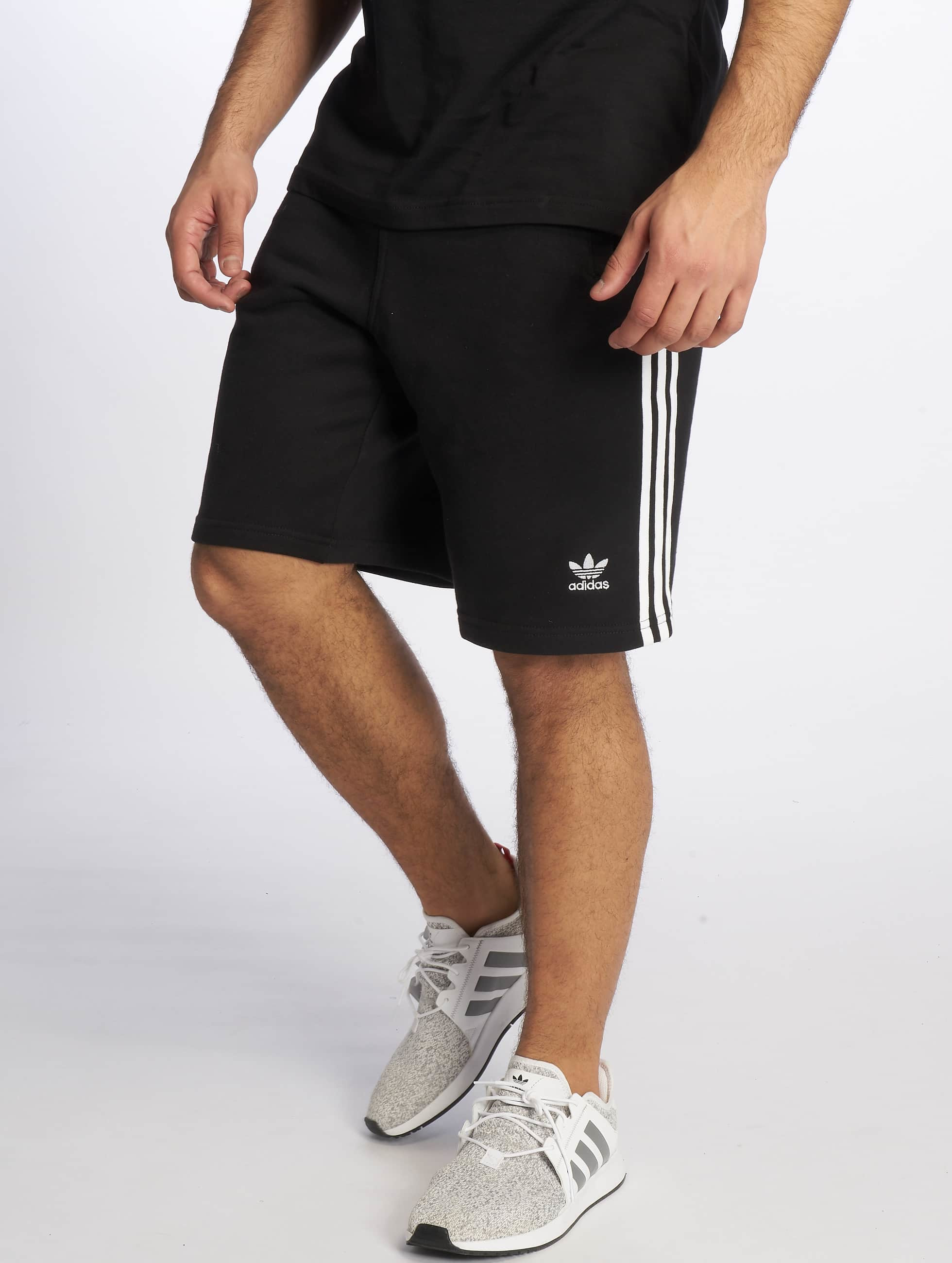3c9b8ce75a8 adidas originals broek / shorts 3-Stripe in zwart 599292