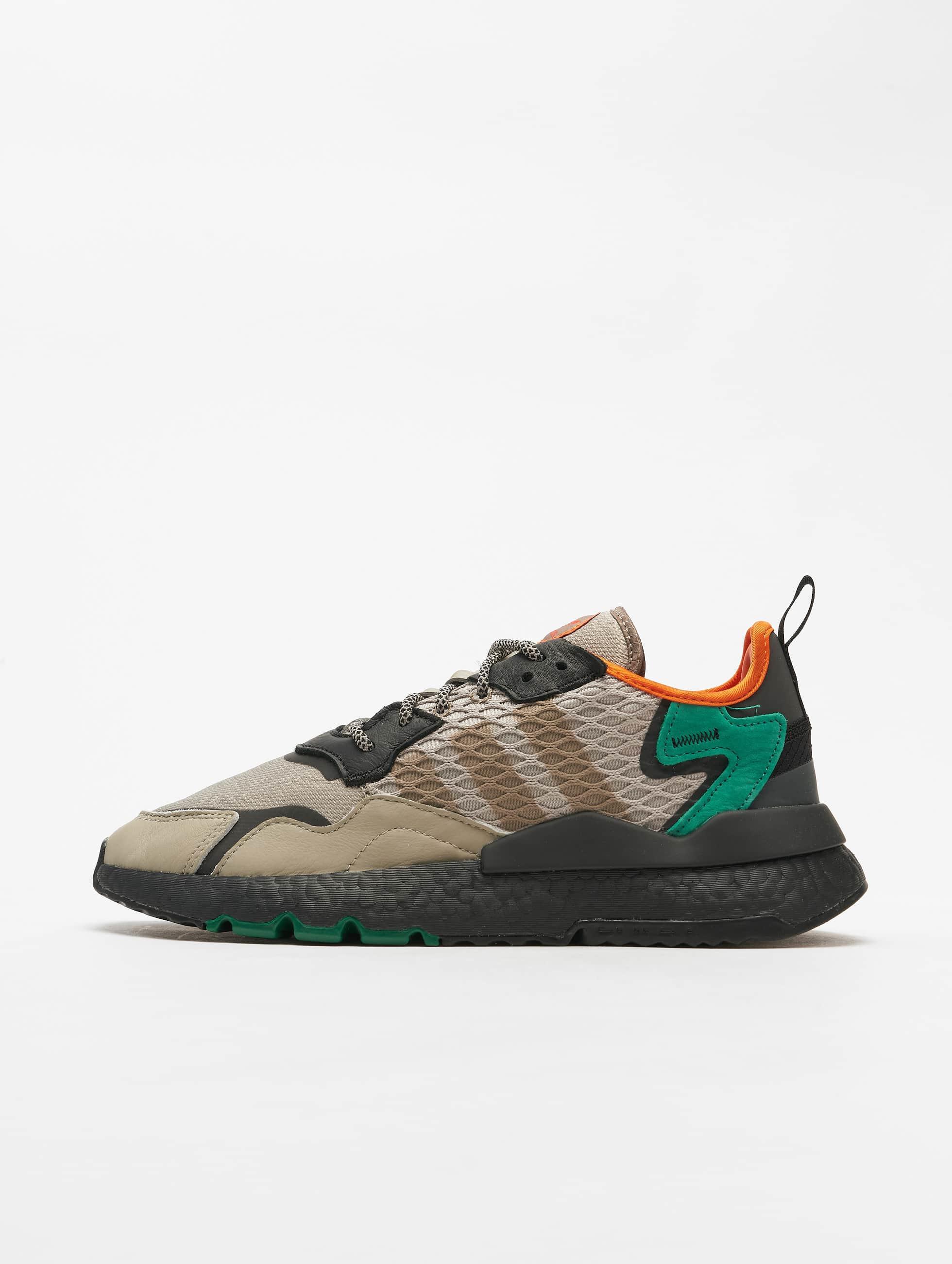 Adidas Originals Nite Jogger Sneakers SesameCore BlackBold Green