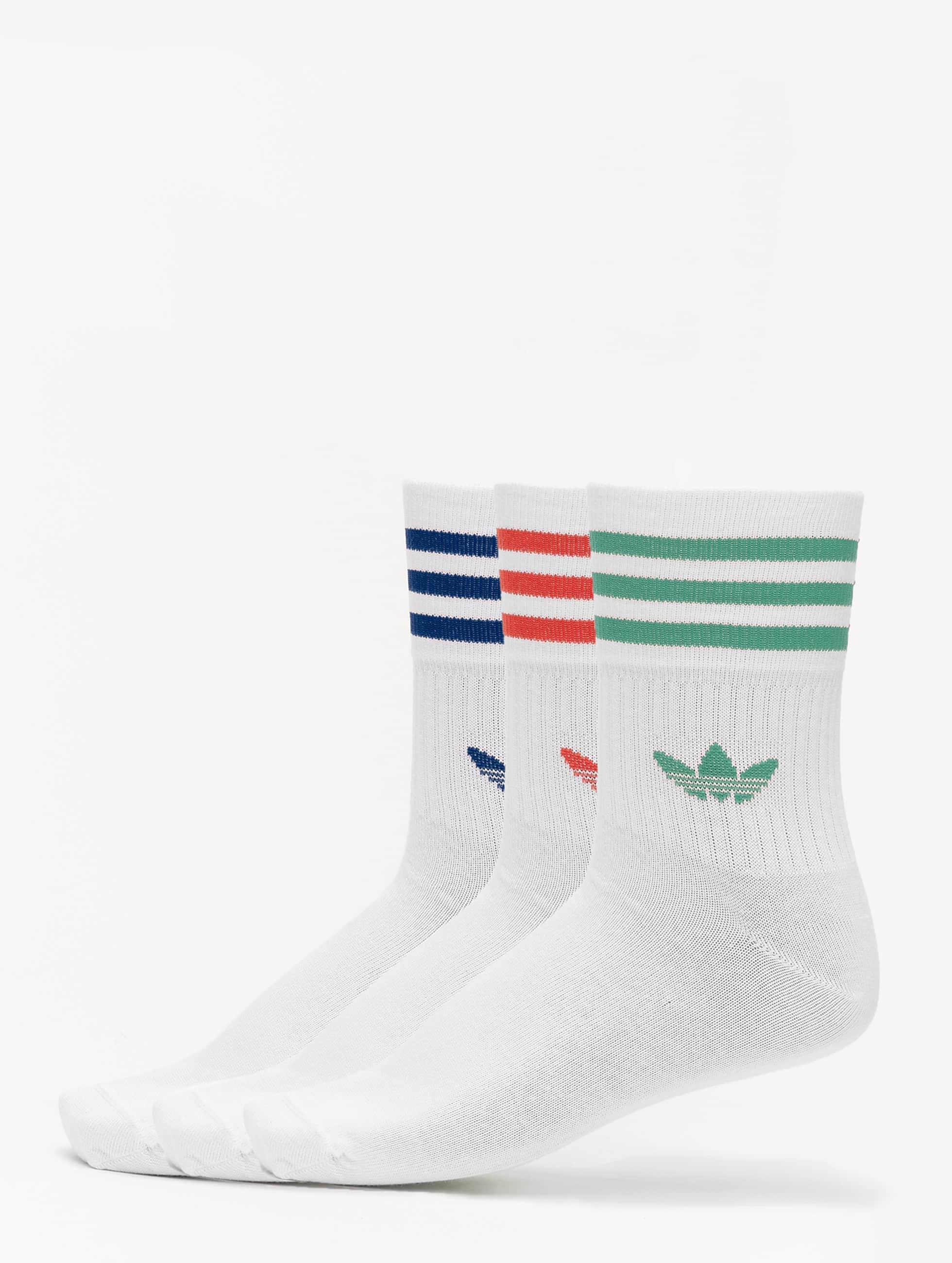 Adidas Mid Cut Crew Socks WhiteWhiteWhite
