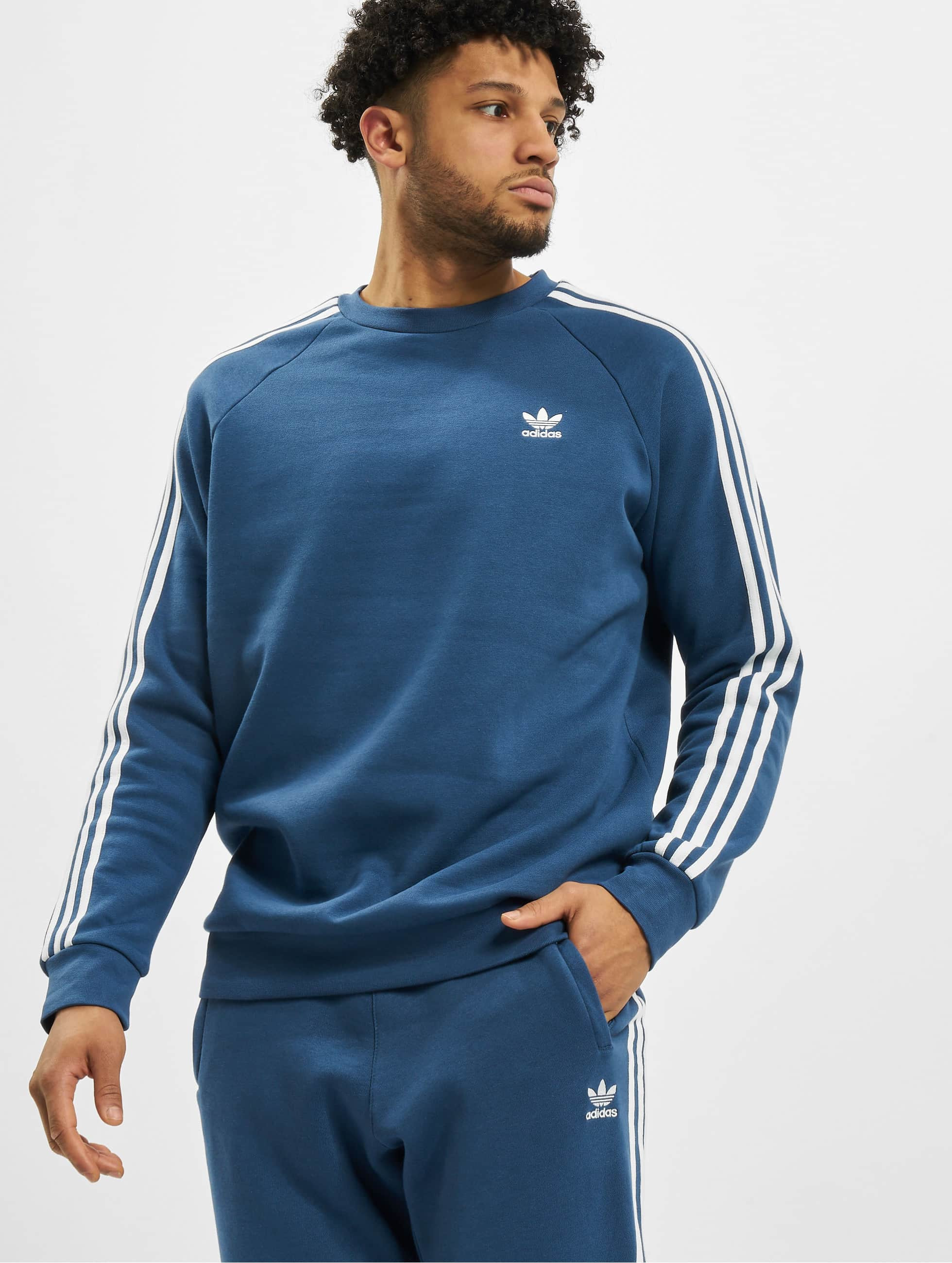 Promo SweaT Shirt Adidas Adidas 3 Stripes Homme Bleu Marine