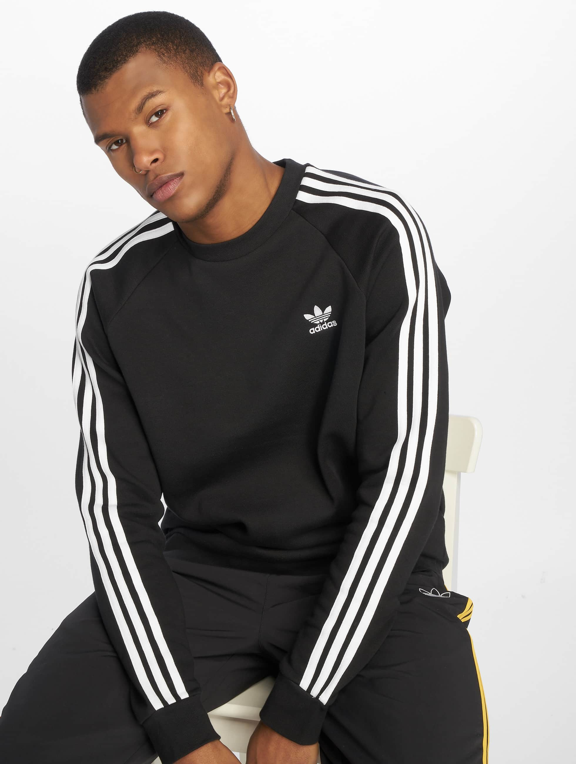 Adidas Originals 3 Stripes Sweatshirt Black